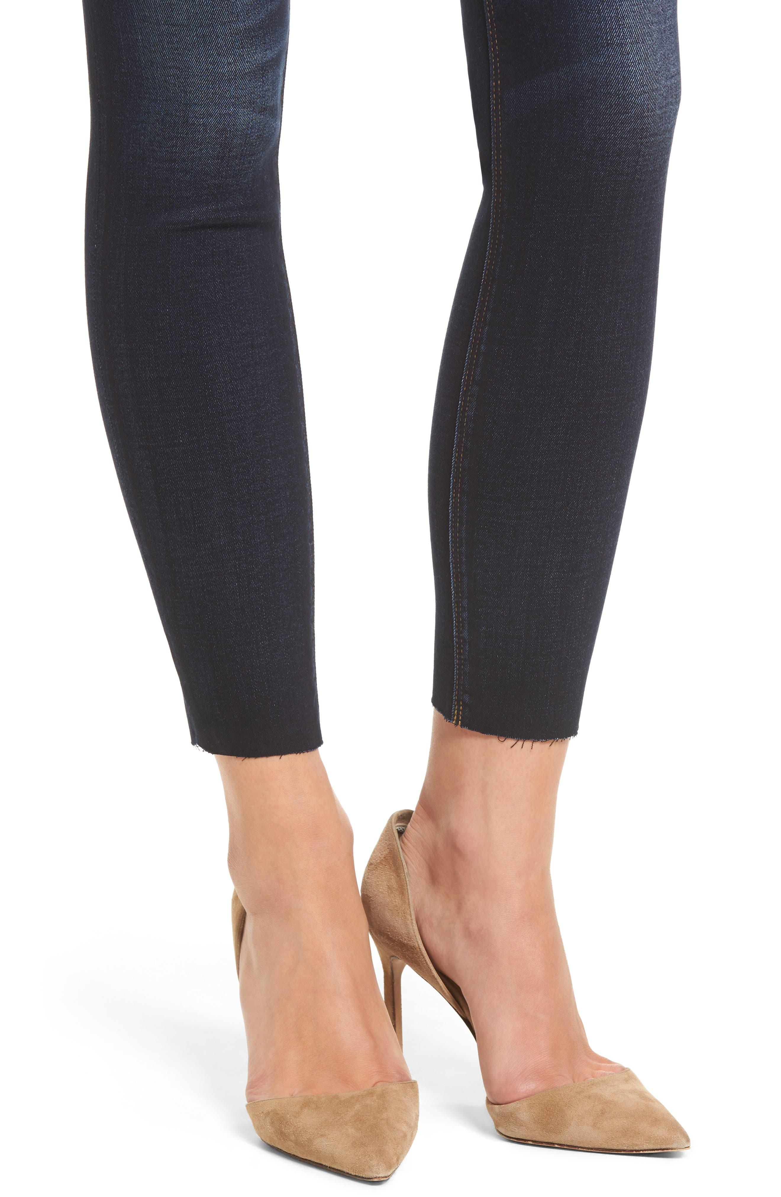 'Krista' Raw Hem Ankle Super Skinny Jeans,                             Alternate thumbnail 4, color,                             402