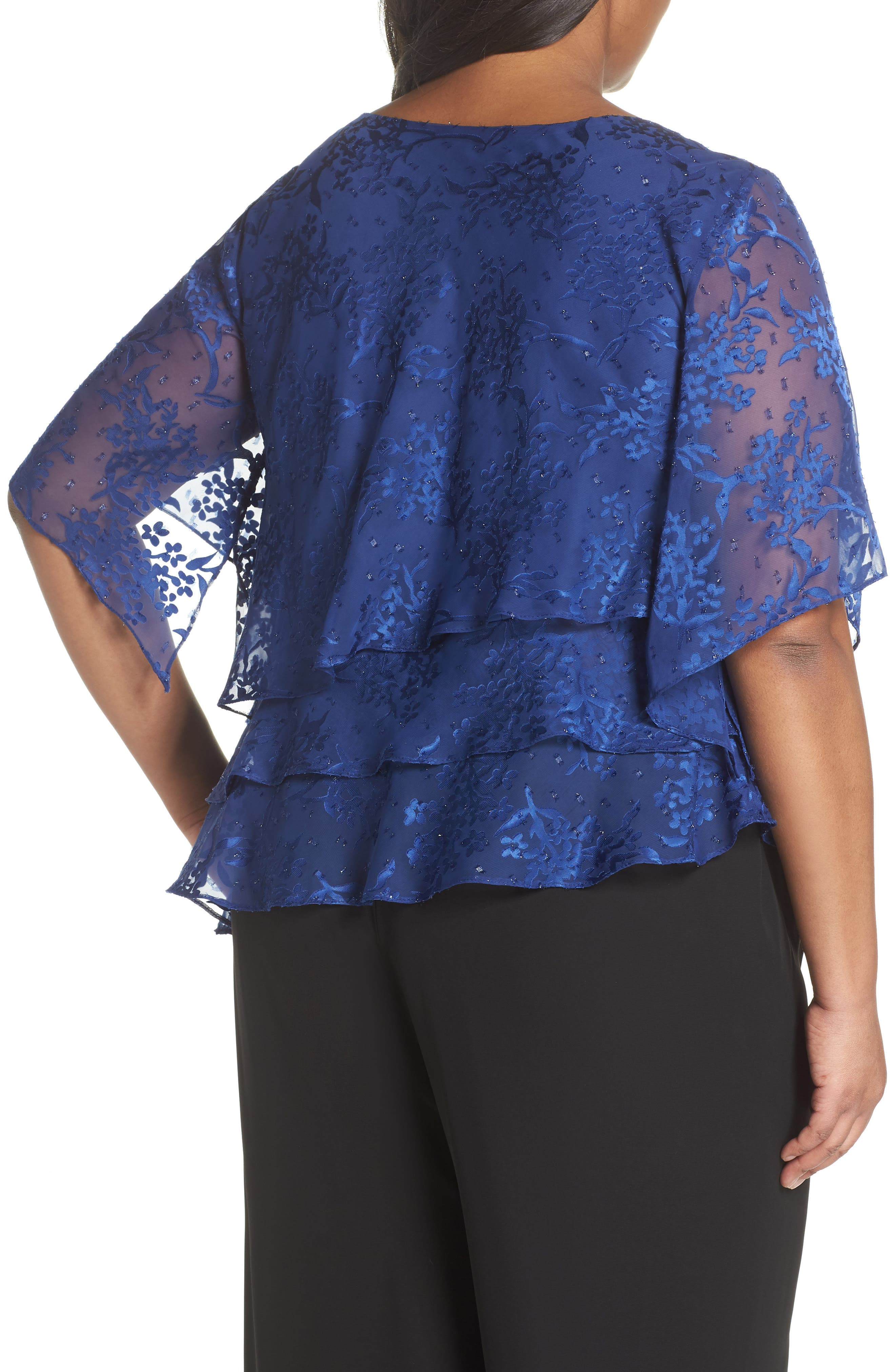 Embroidered Asymmetrical Top,                             Alternate thumbnail 4, color,