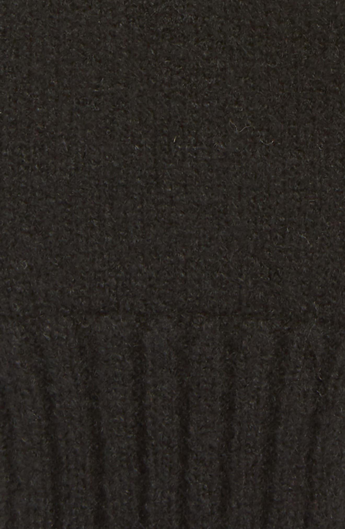 Knit Tech Gloves,                             Alternate thumbnail 3, color,                             BLACK