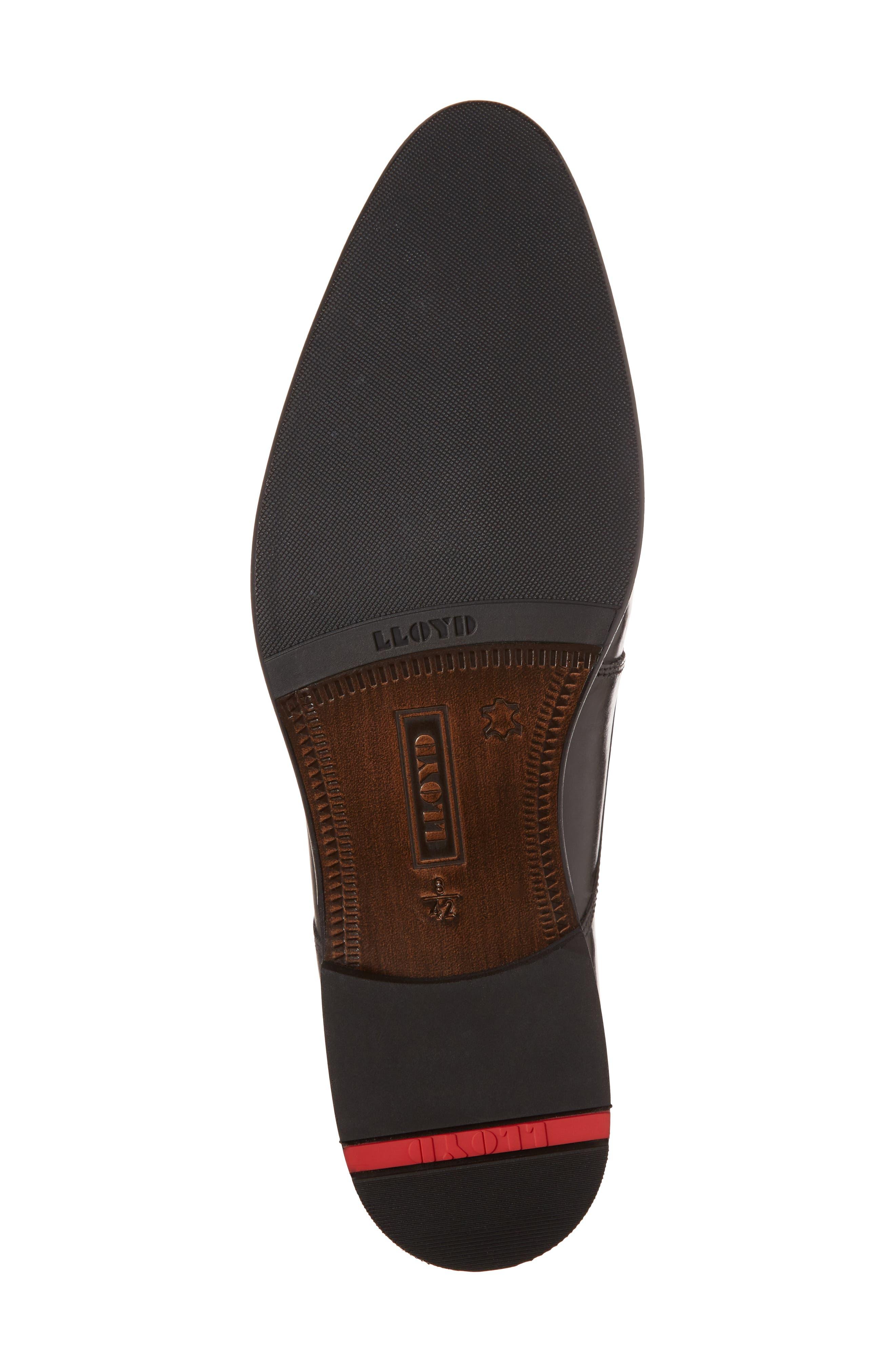 Michael Double Monk Strap Shoe,                             Alternate thumbnail 6, color,                             BLACK LEATHER