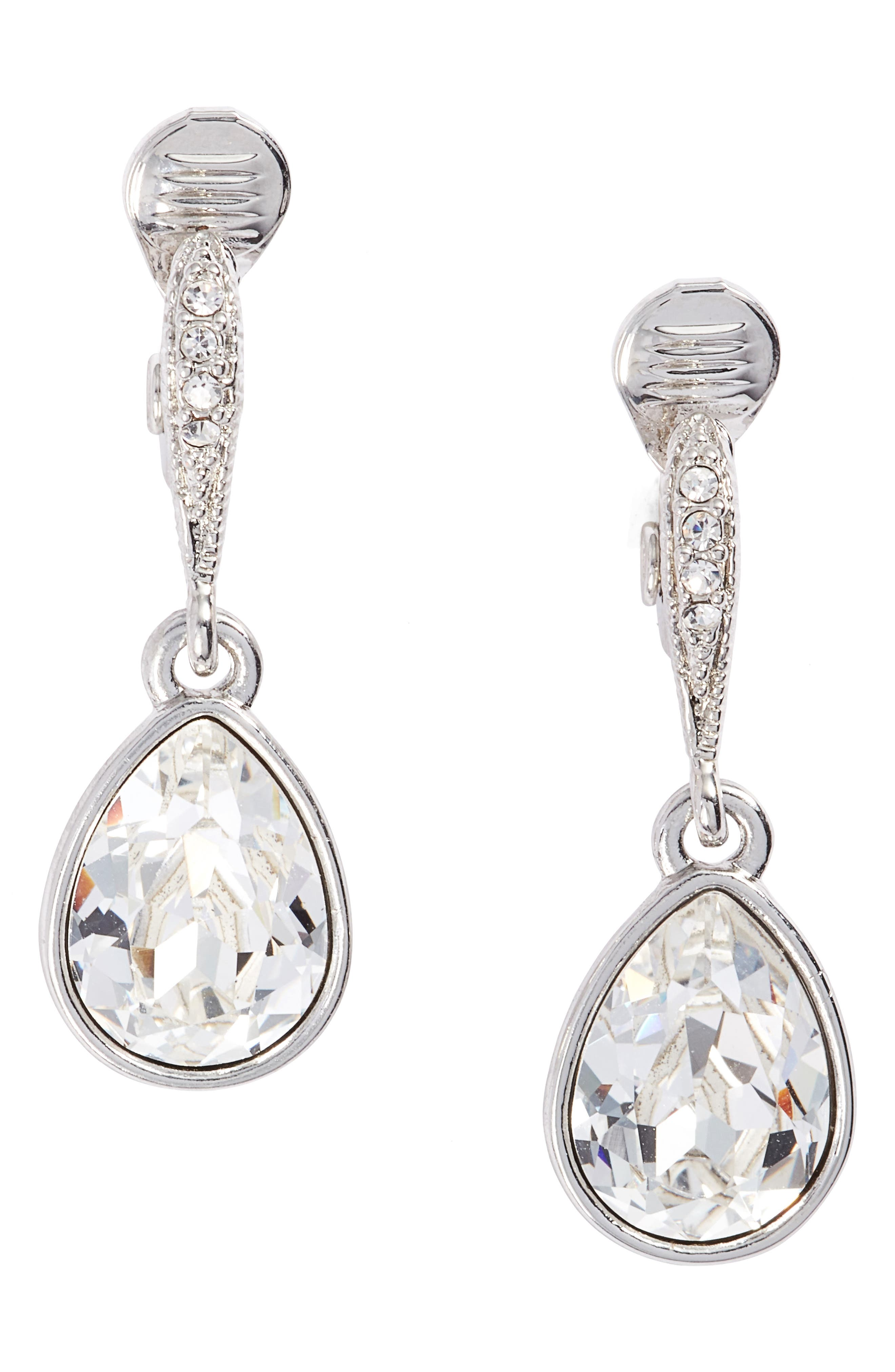 Small Drop Clip Earrings,                             Main thumbnail 1, color,                             040