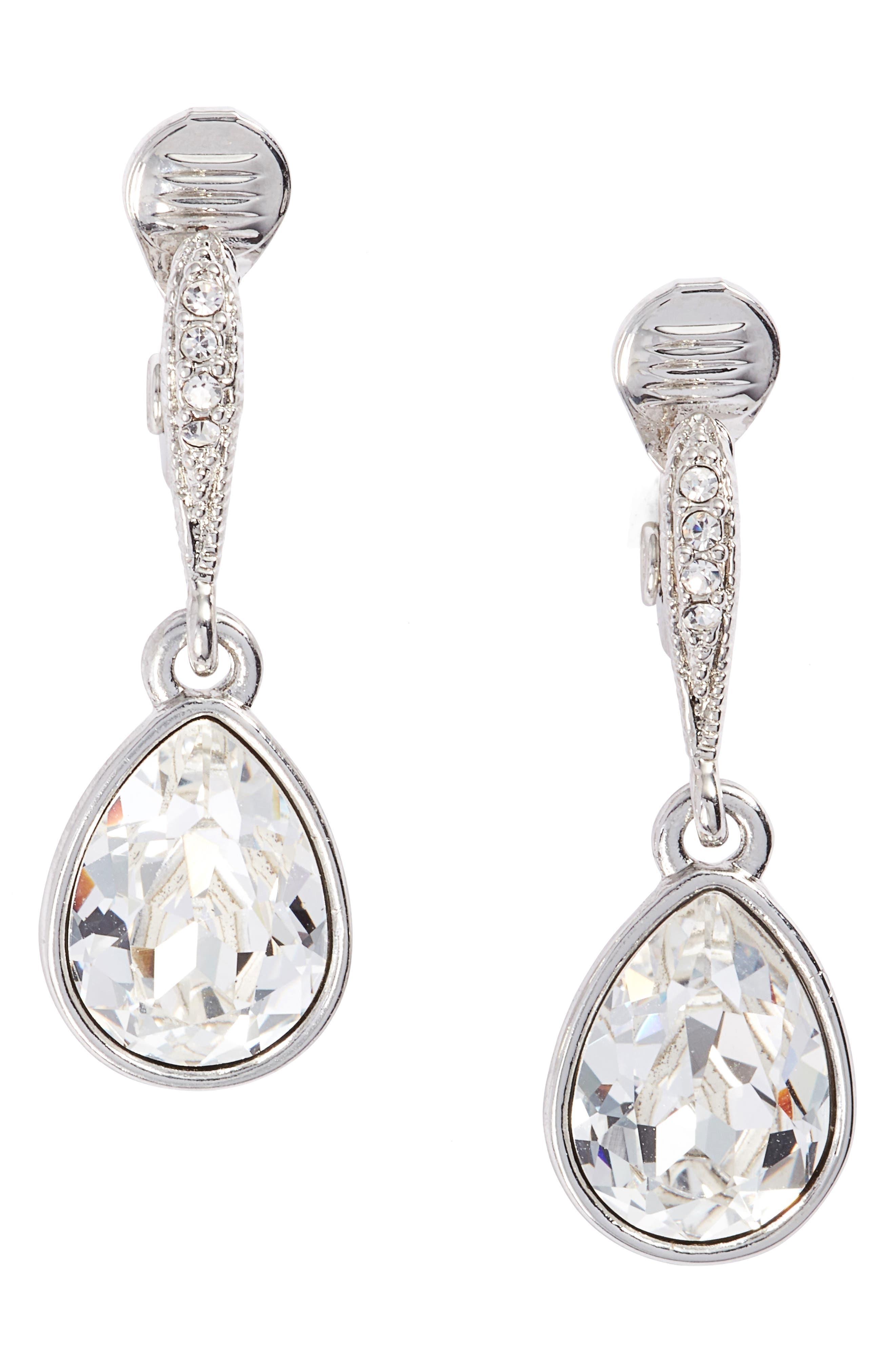 Small Drop Clip Earrings,                         Main,                         color, 040