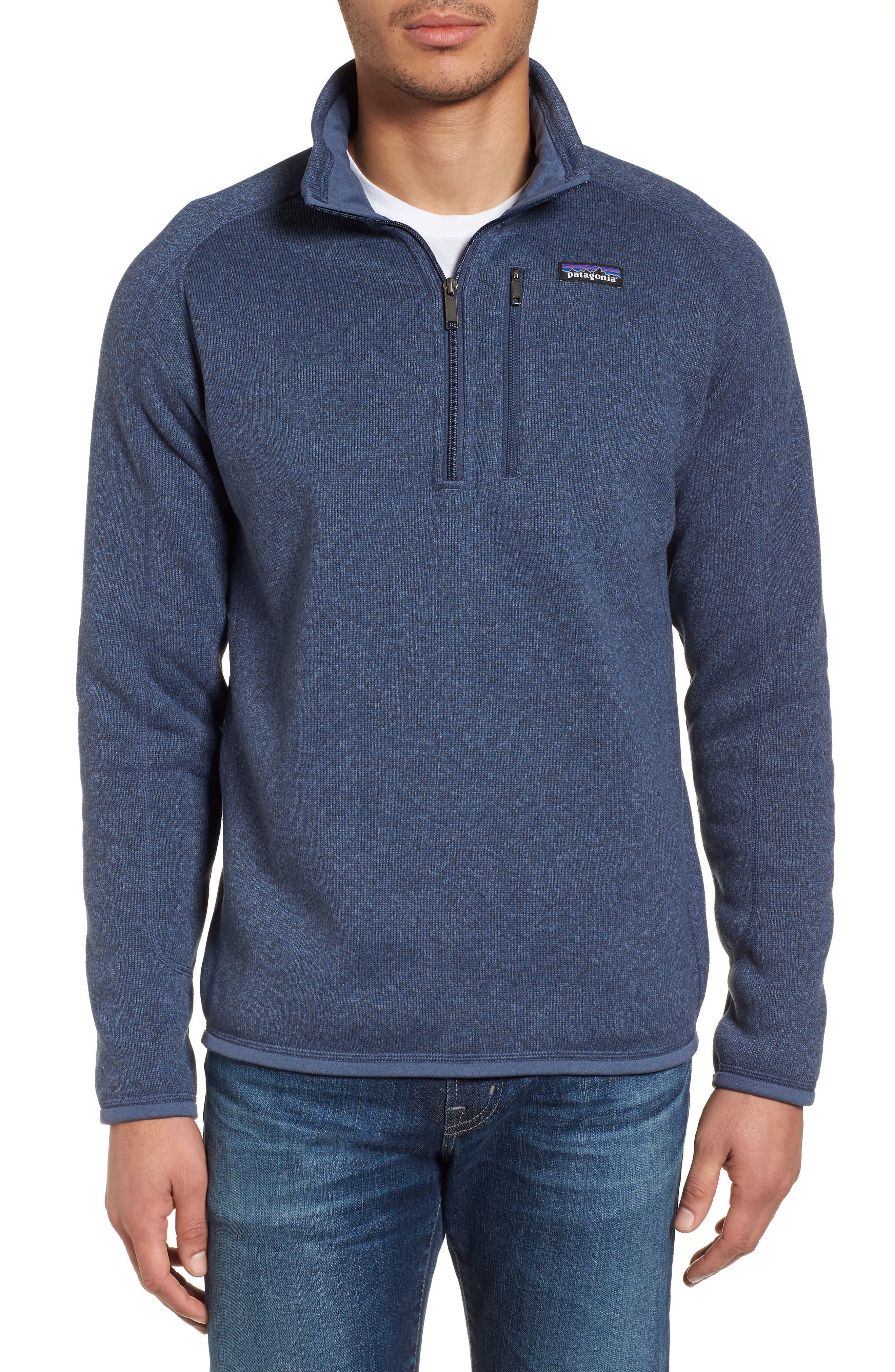 Better Sweater Quarter Zip Pullover, Main, color, DOLOMITE BLUE