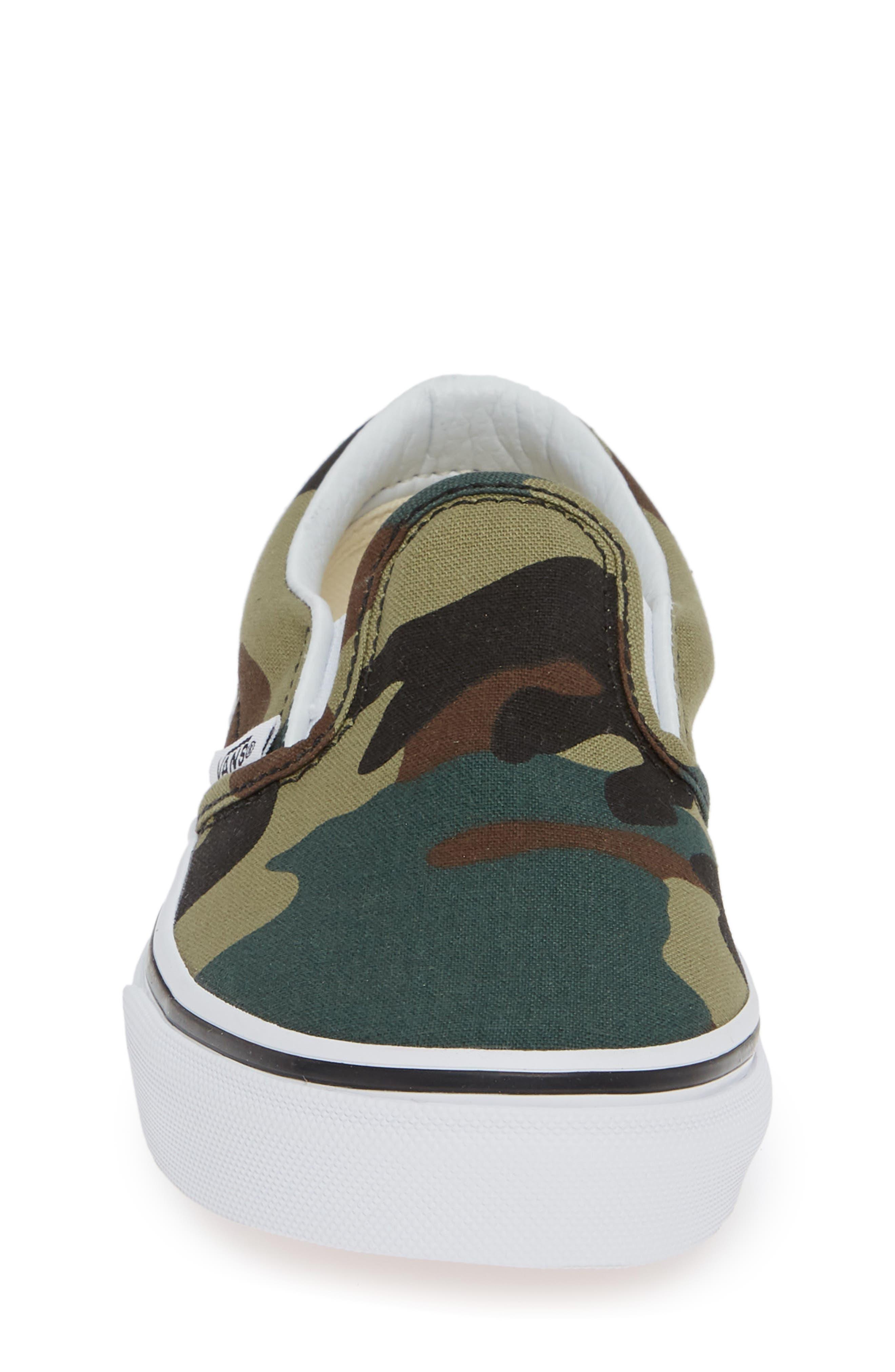 Classic Slip-On Sneaker,                             Alternate thumbnail 4, color,                             WOODLAND CAMO BLACK/ WOODLAND