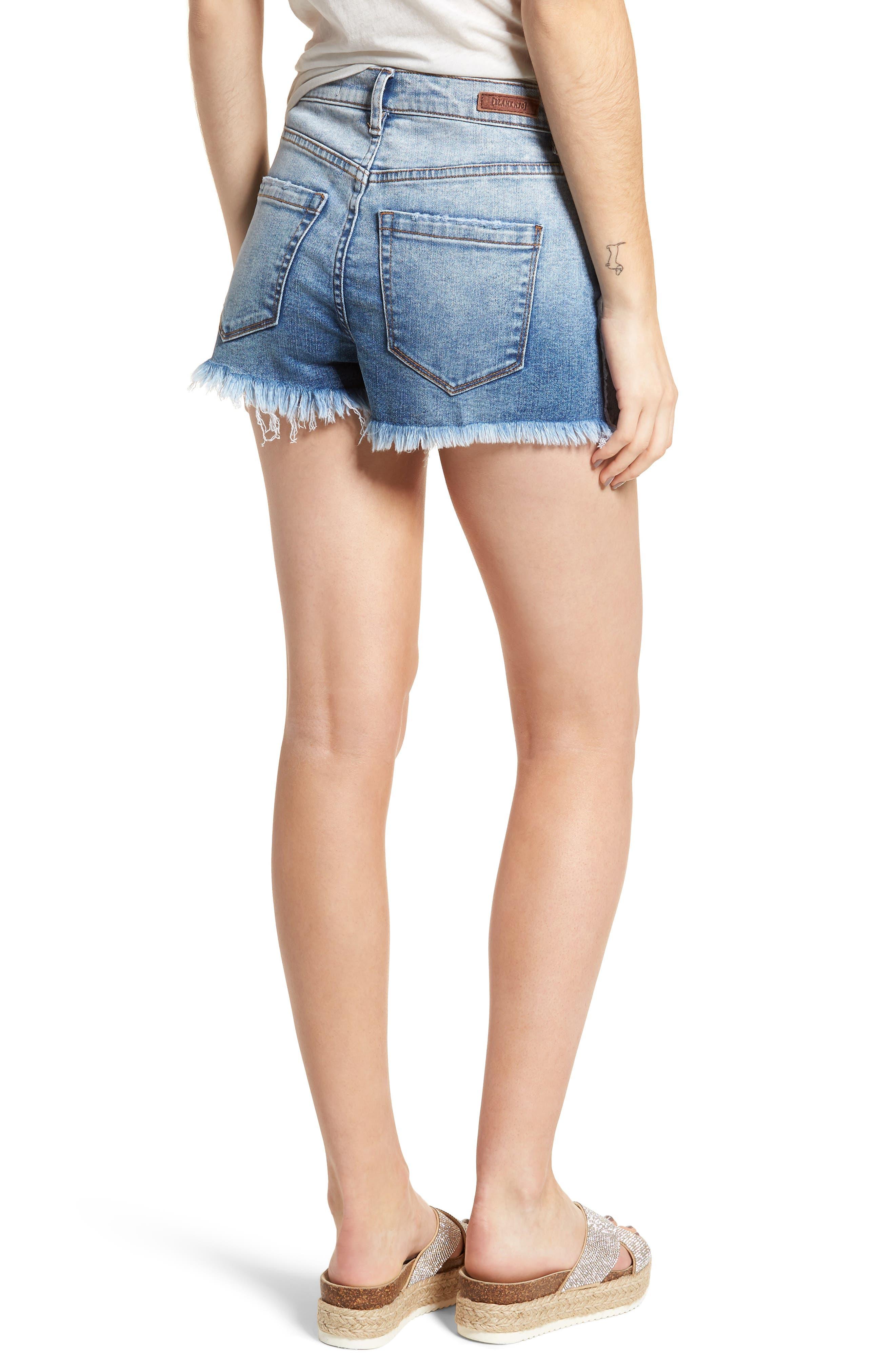 High Waist Cutoff Denim Shorts,                             Alternate thumbnail 2, color,                             400