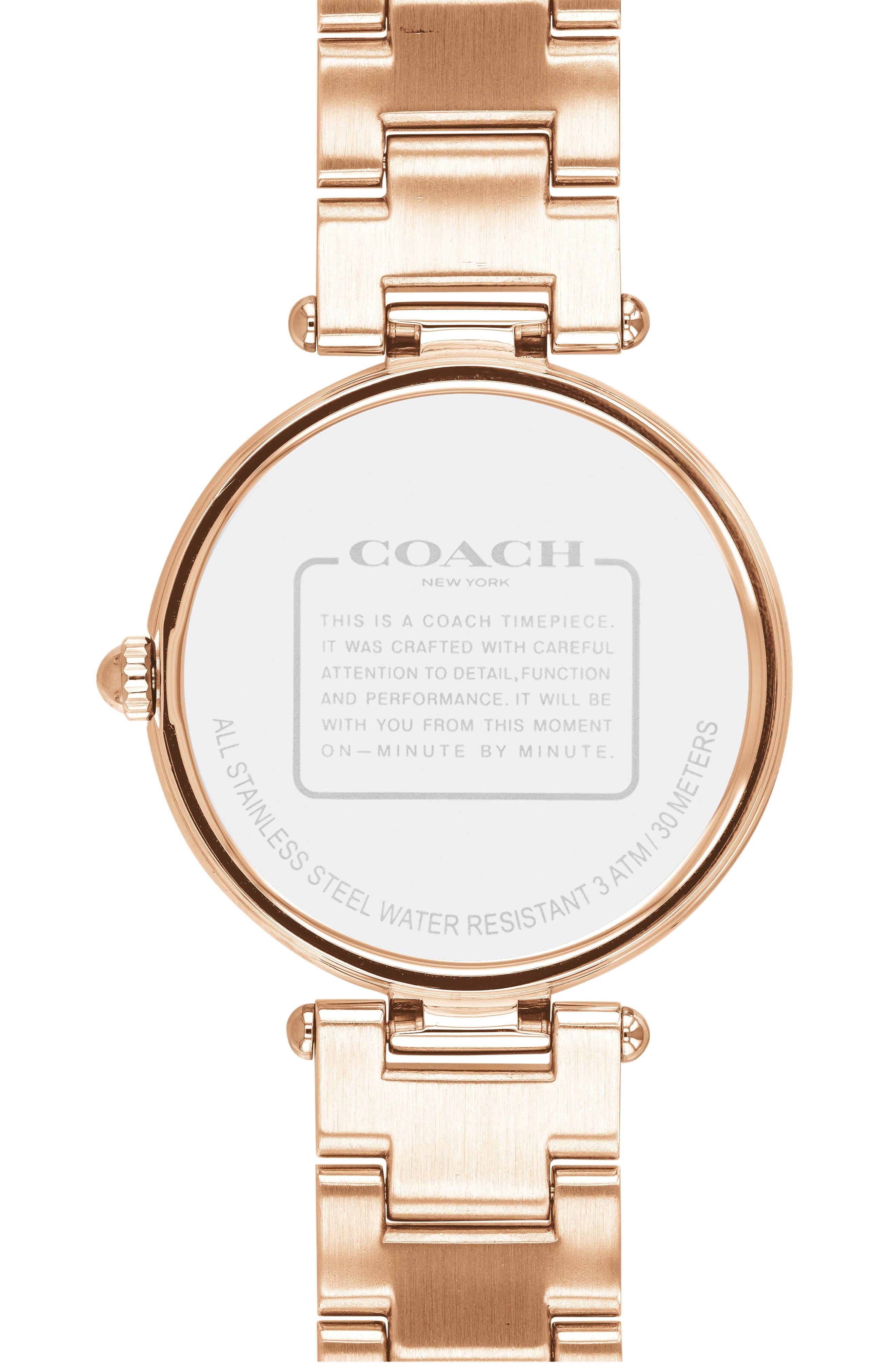 Park Bracelet Watch, 34mm,                             Alternate thumbnail 2, color,                             ROSE GOLD/ WHITE/ ROSE GOLD