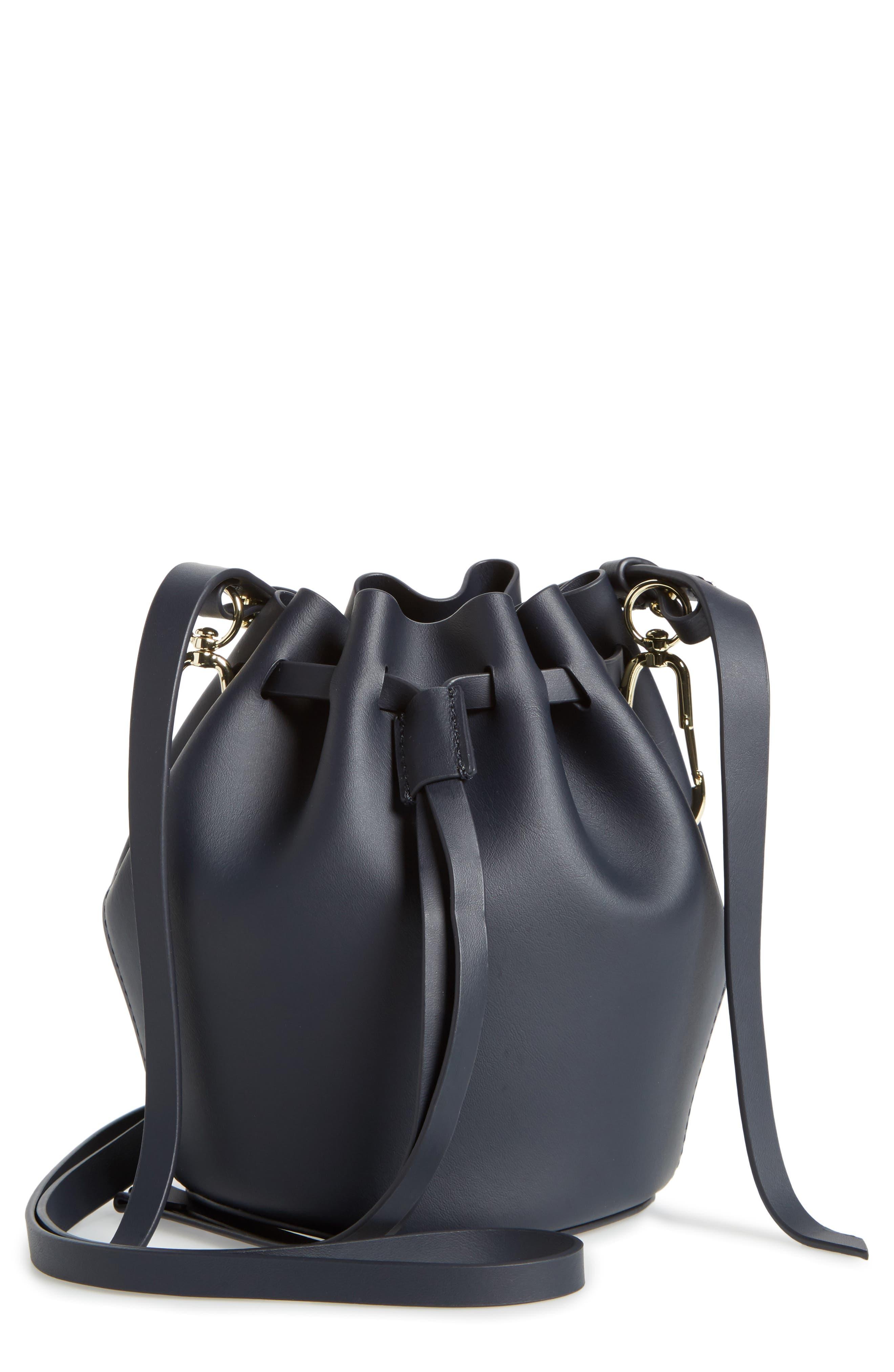 Mini Belay Calfskin Leather Drawstring Bag,                             Main thumbnail 2, color,