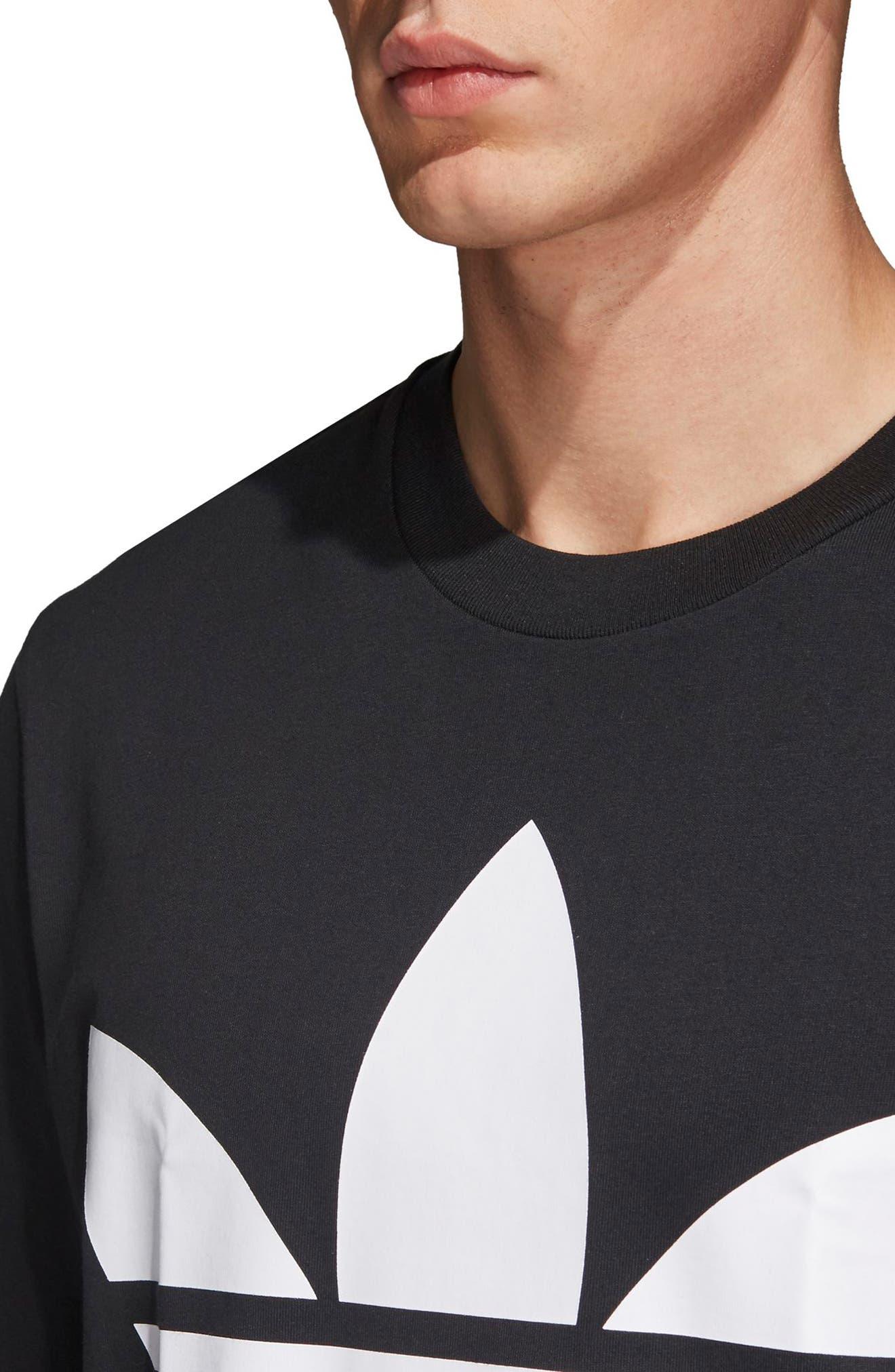 Oversize Logo T-Shirt,                             Alternate thumbnail 4, color,                             BLACK