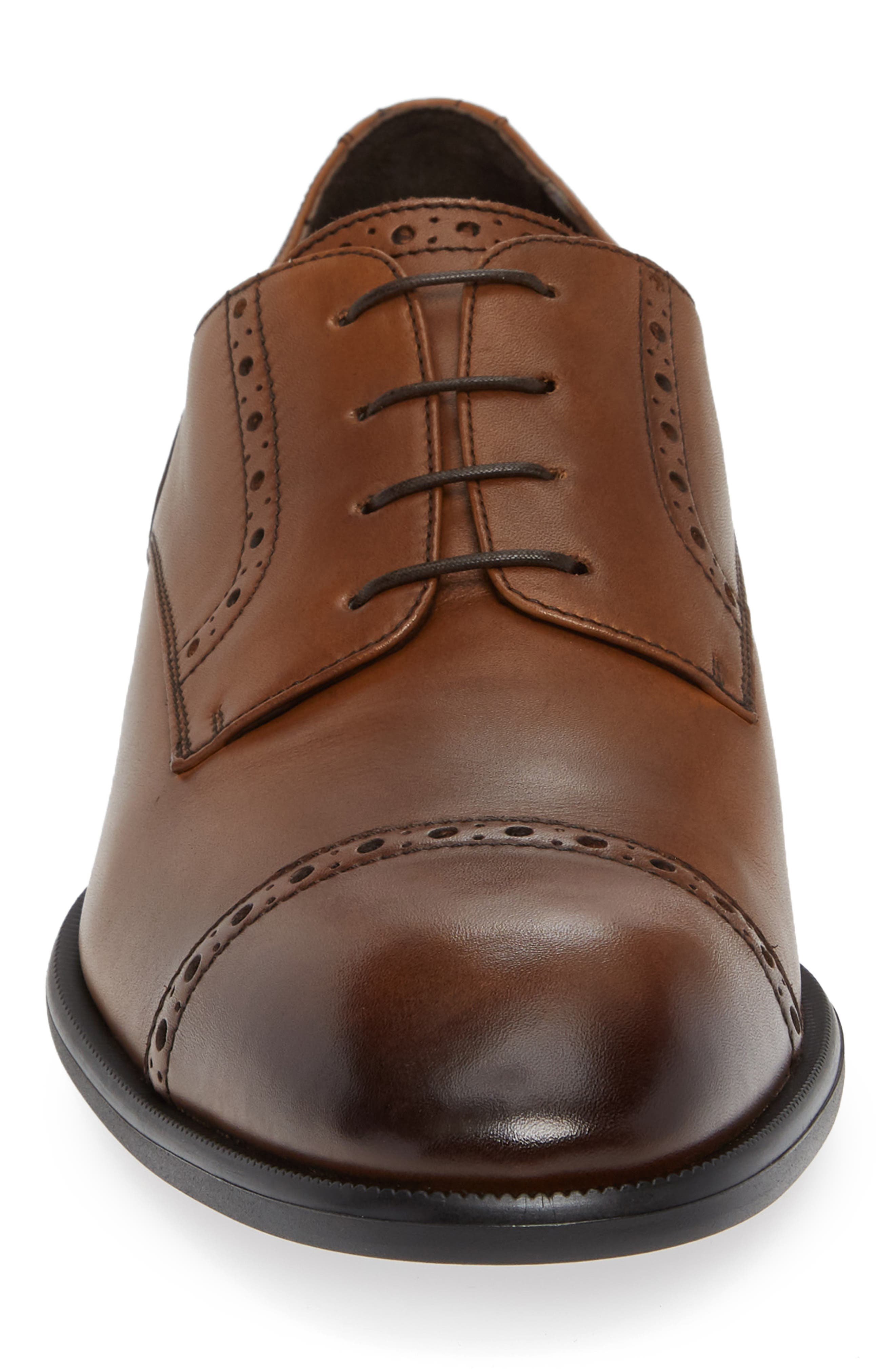 Cap Toe Derby,                             Alternate thumbnail 4, color,                             VICUNA BROWN