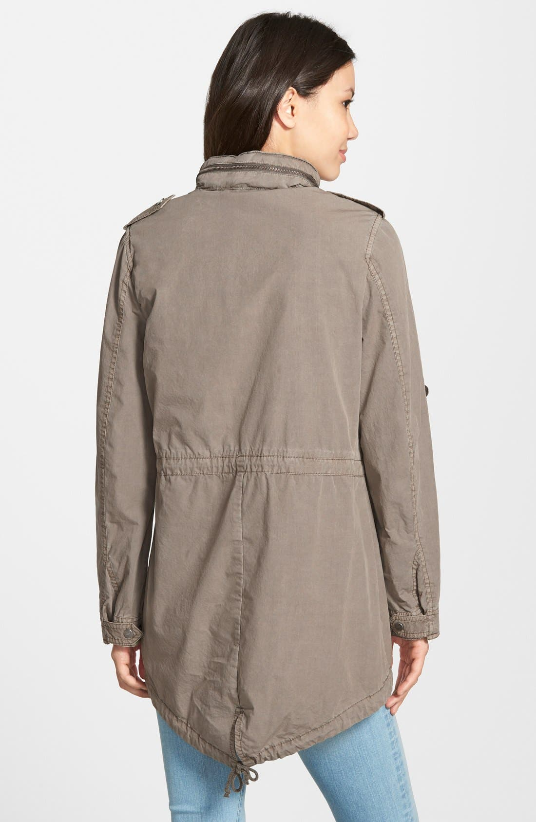 Lightweight Cotton Hooded Utility Jacket,                             Alternate thumbnail 7, color,