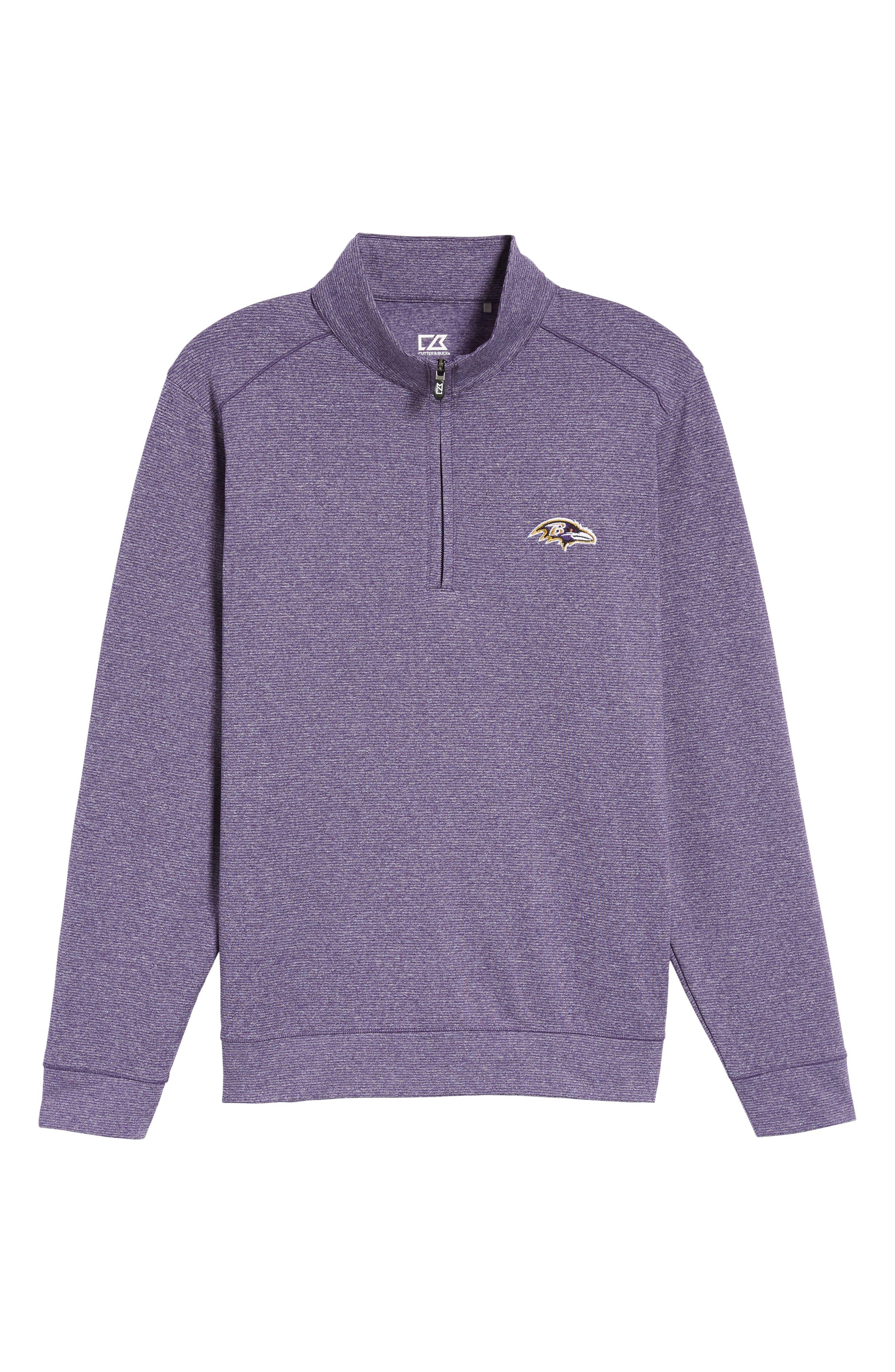 Shoreline - Baltimore Ravens Half Zip Pullover,                             Alternate thumbnail 6, color,                             513