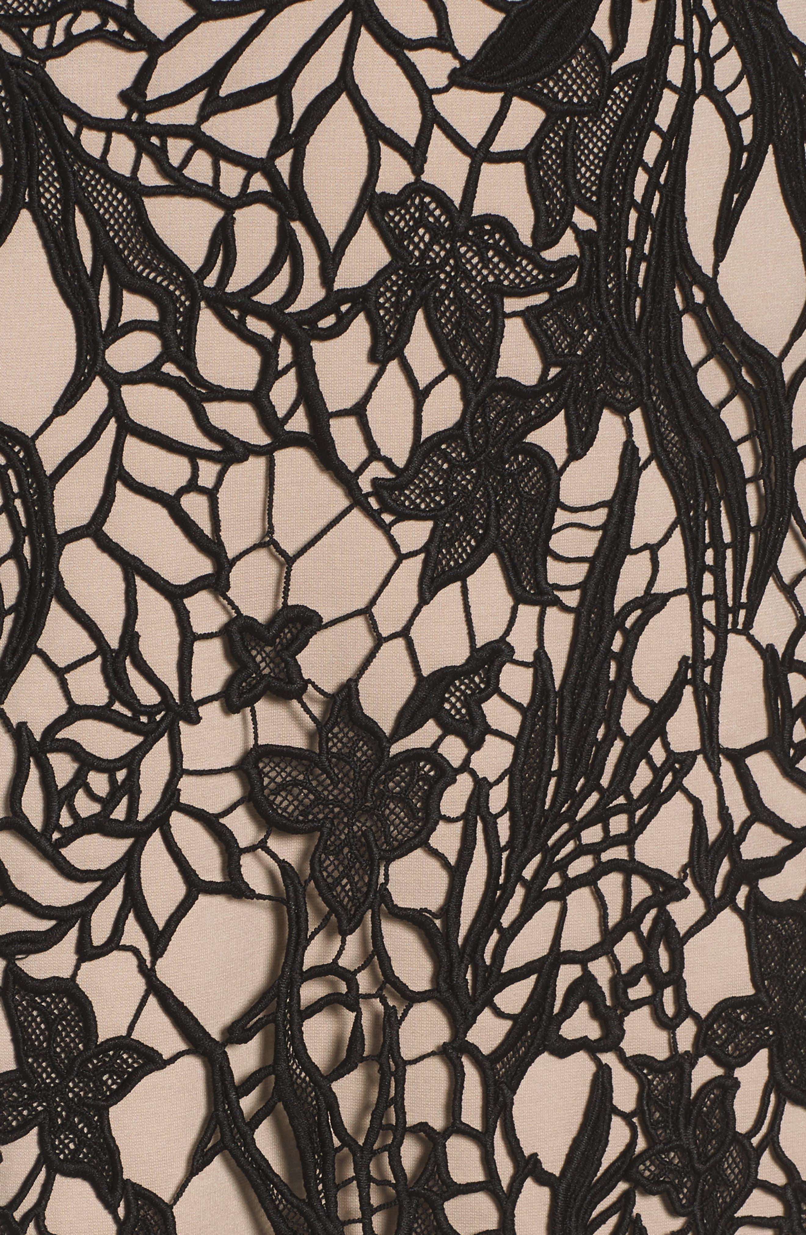 Felicity Sheath Dress,                             Alternate thumbnail 6, color,                             001