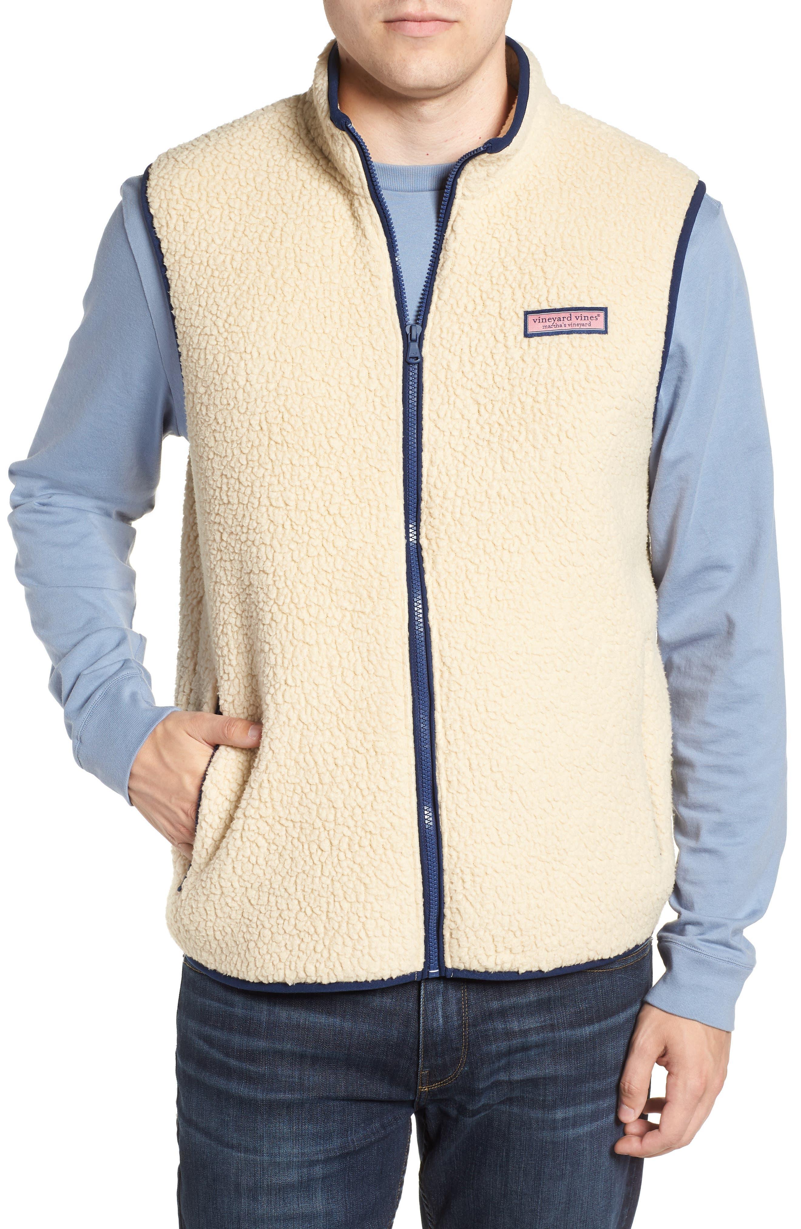 Harbor Regular Fit Fleece Vest,                             Main thumbnail 1, color,                             CAMEL