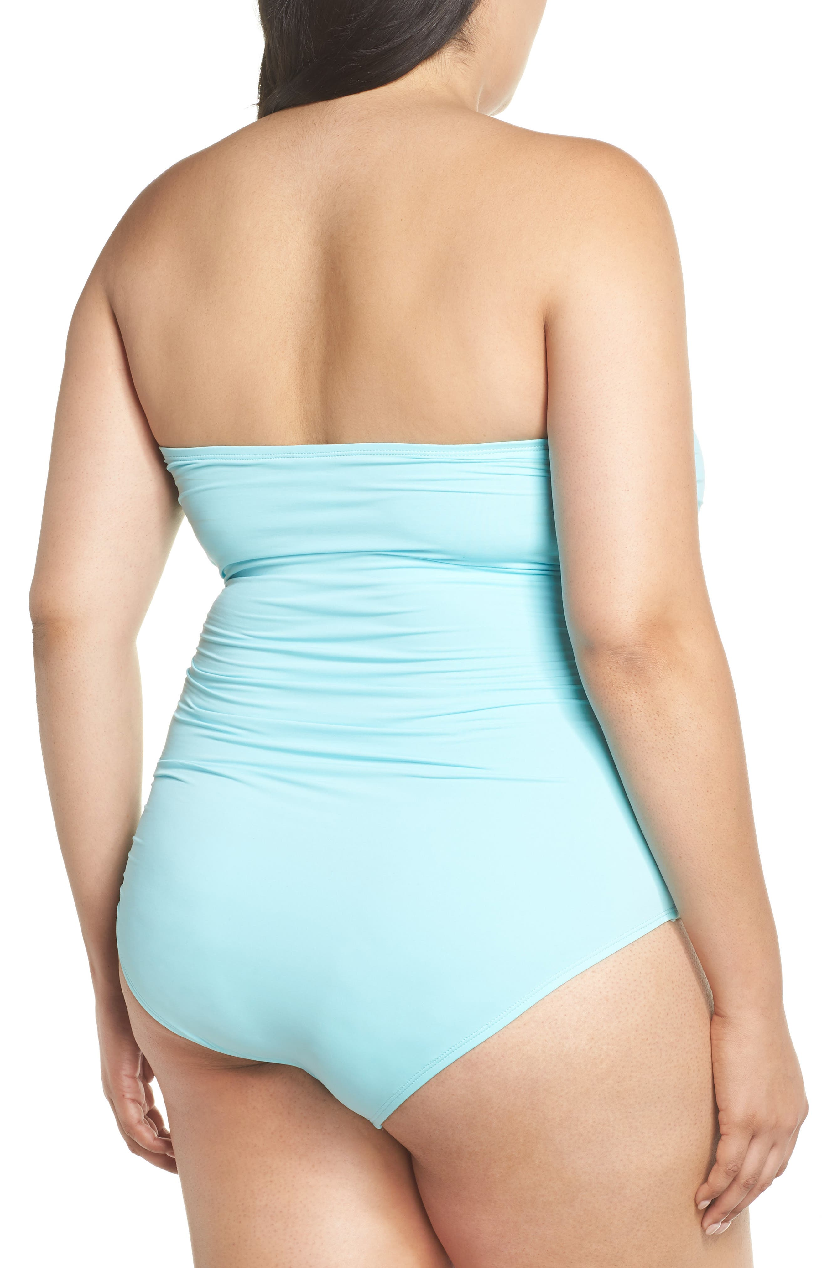 'Pearl' Convertible One-Piece Swimsuit,                             Alternate thumbnail 2, color,                             SWIMMING POOL