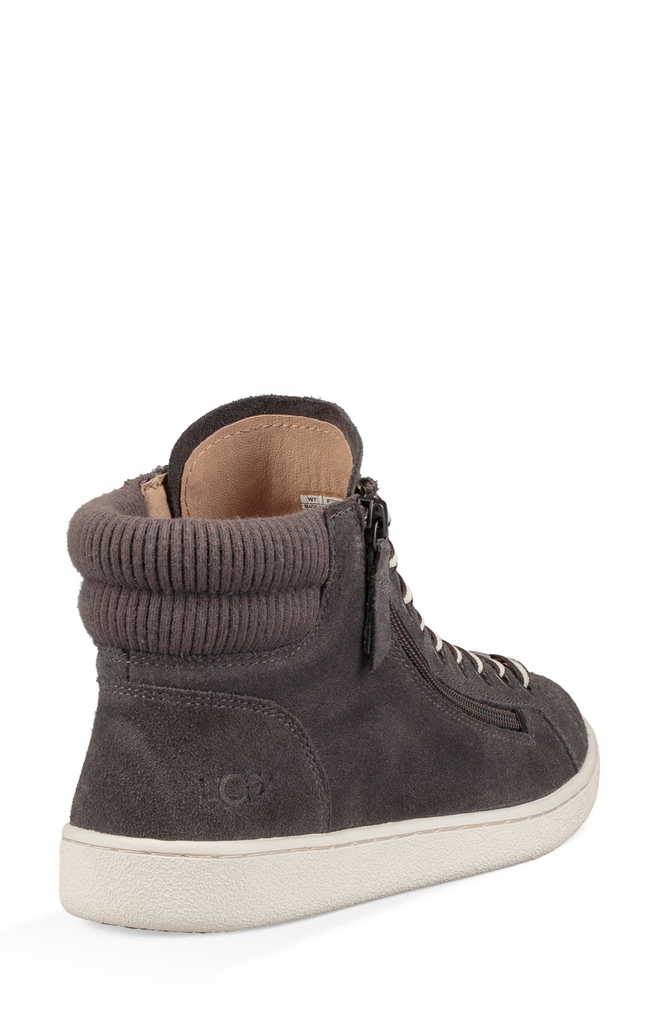 UGG Olive High Top Sneaker,                             Alternate thumbnail 2, color,                             CHARCOAL