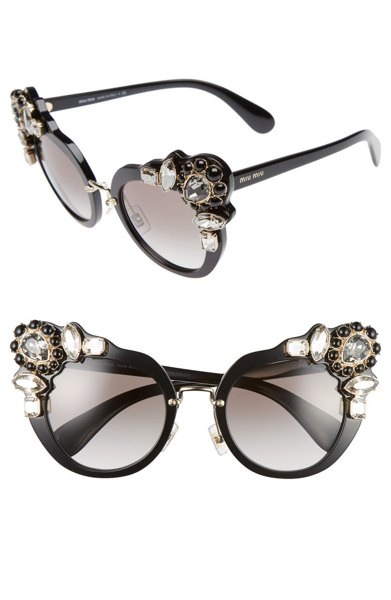 951f61529b Miu Miu 52mm Cat Eye Sunglasses