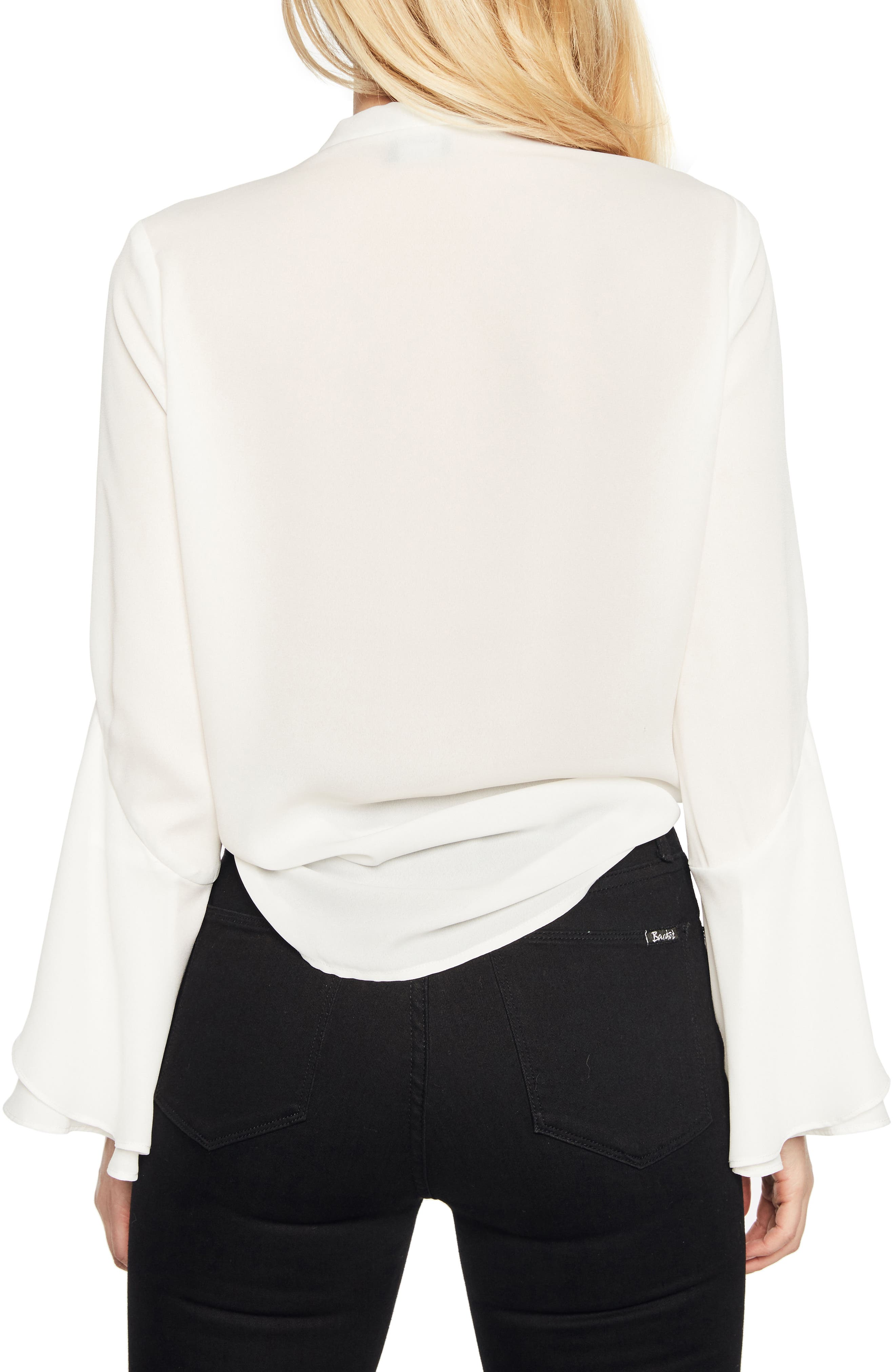 Bow Frill Top,                             Alternate thumbnail 2, color,