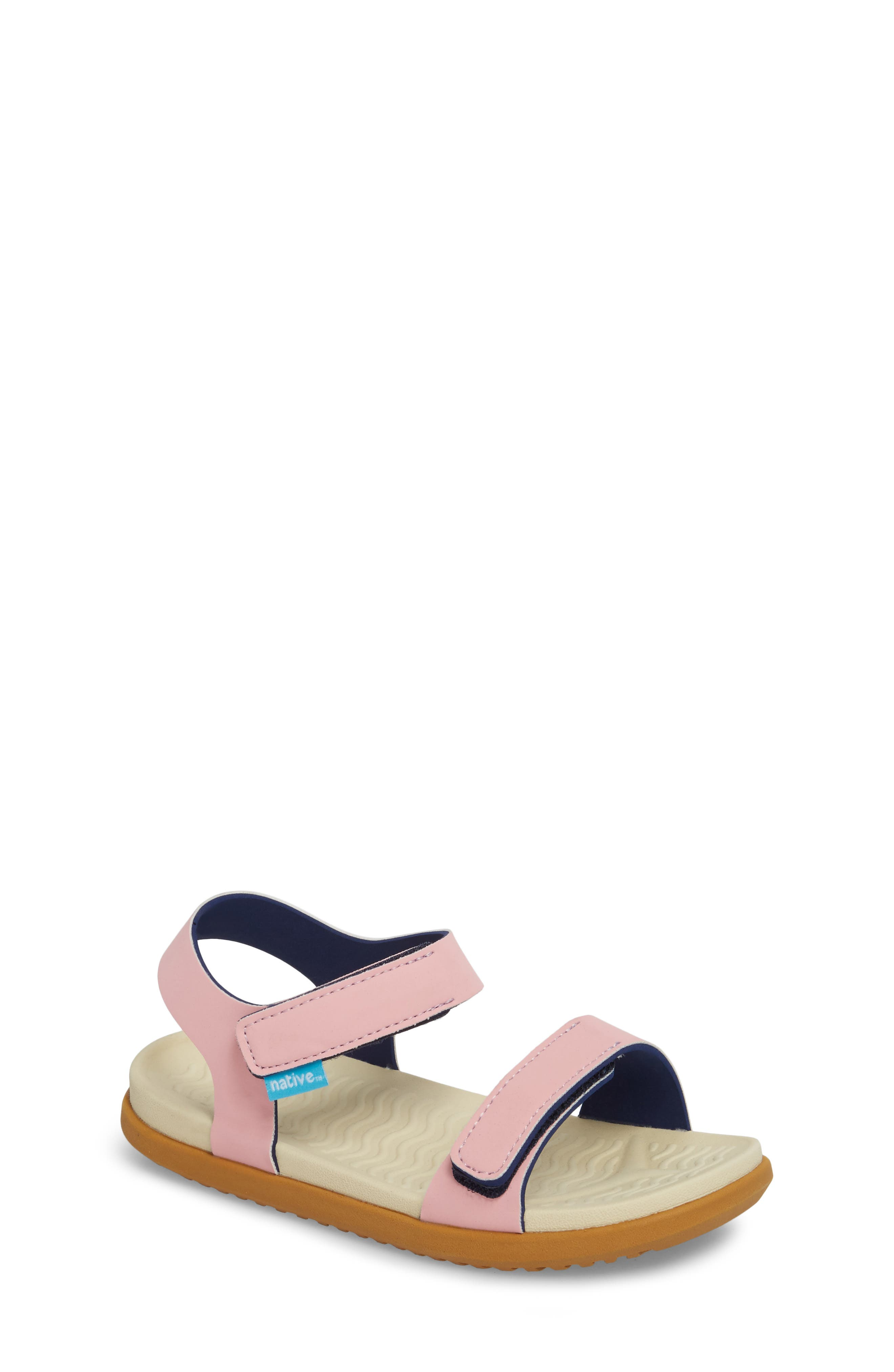 Toddler Girls Native Shoes Charley Child Waterproof Flat Vegan Sandal Size 10 M  Pink