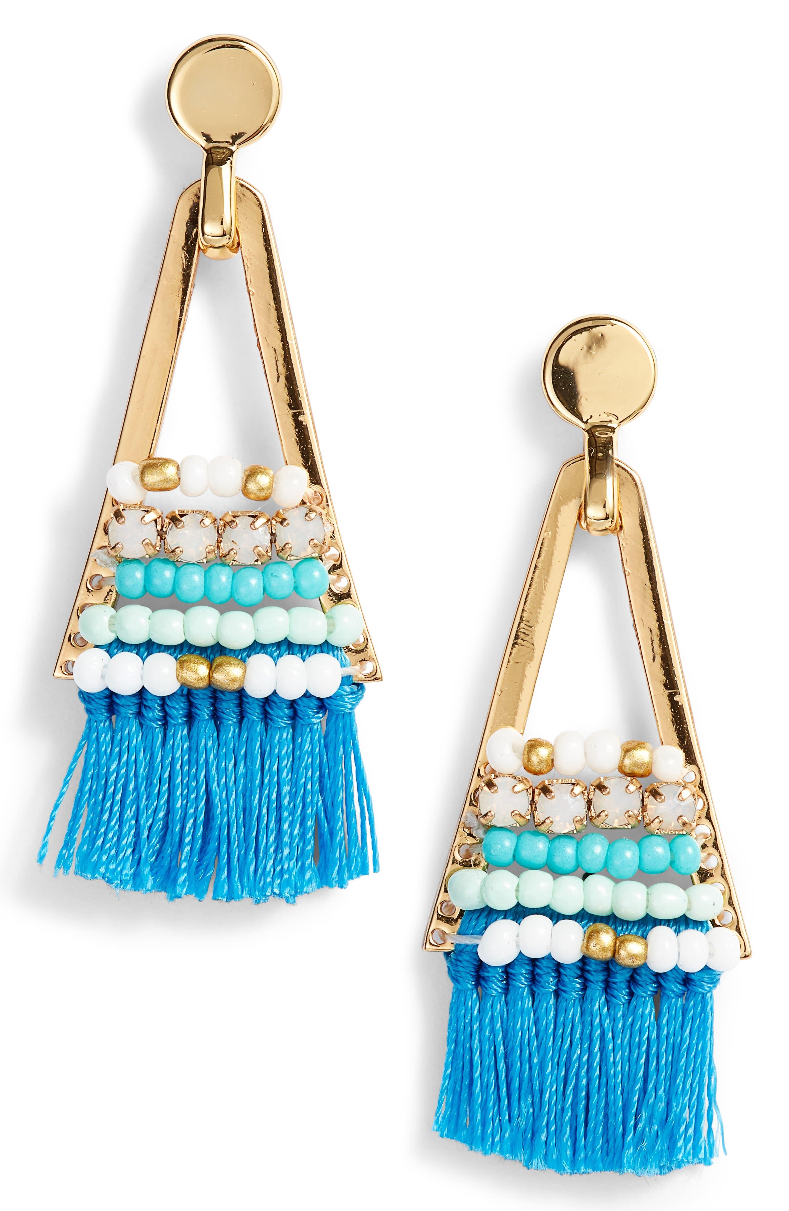 Geo Tassel Chandelier Earrings,                         Main,                         color,
