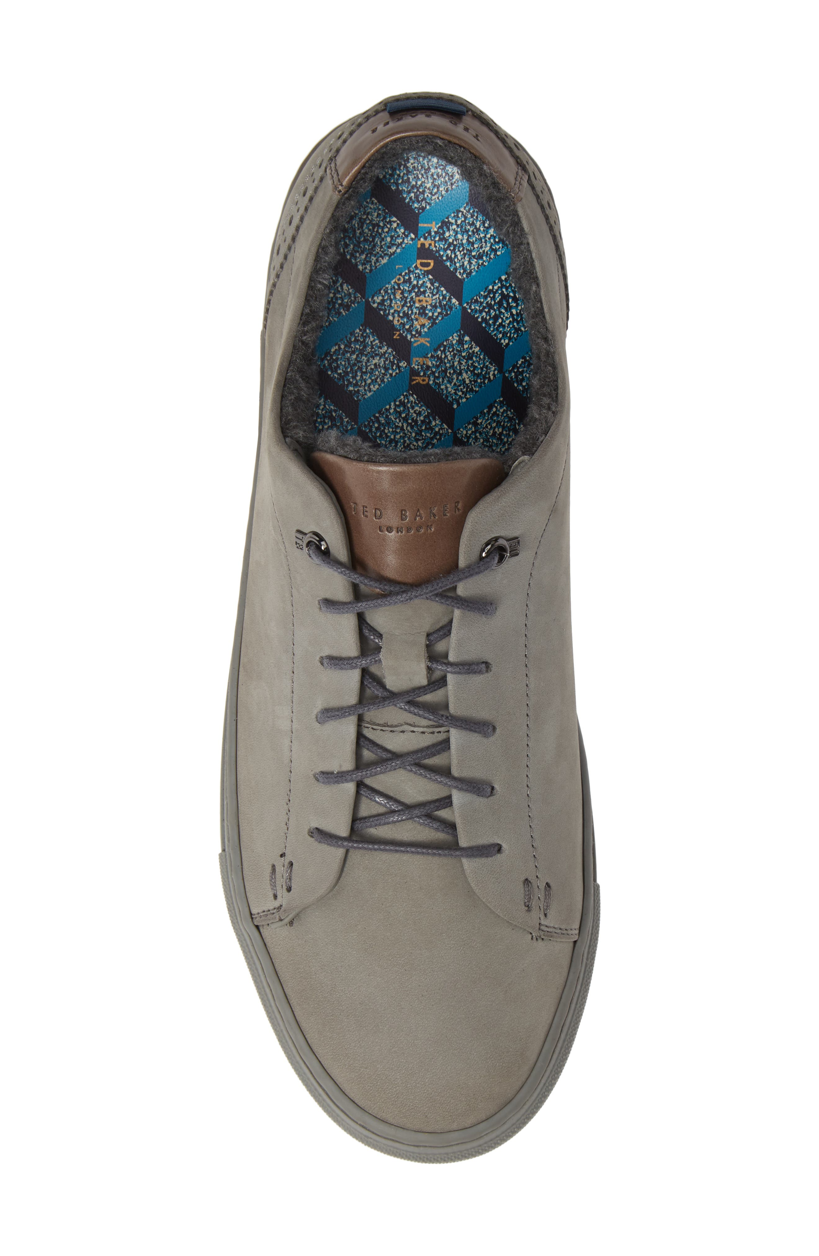Dahvid Nubuck Sneaker,                             Alternate thumbnail 5, color,                             GREY NUBUCK
