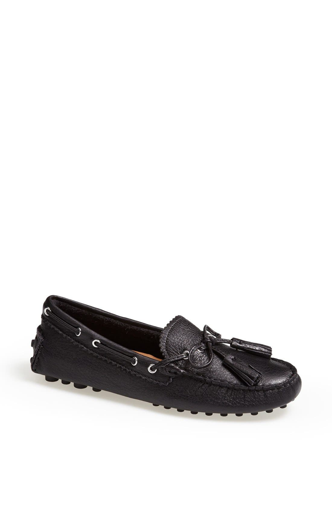 'Nadia' Leather Driving Loafer,                             Main thumbnail 1, color,                             001