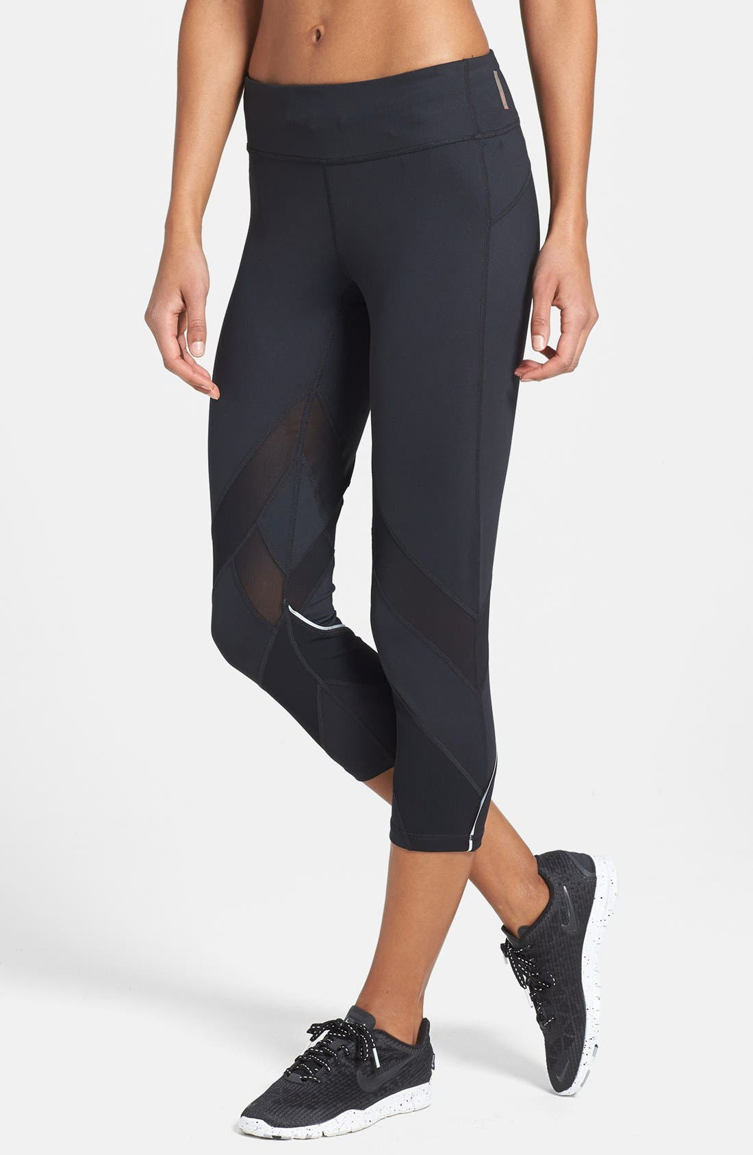 'Bees Knees' Slim Fit Running Capris,                             Main thumbnail 1, color,                             001