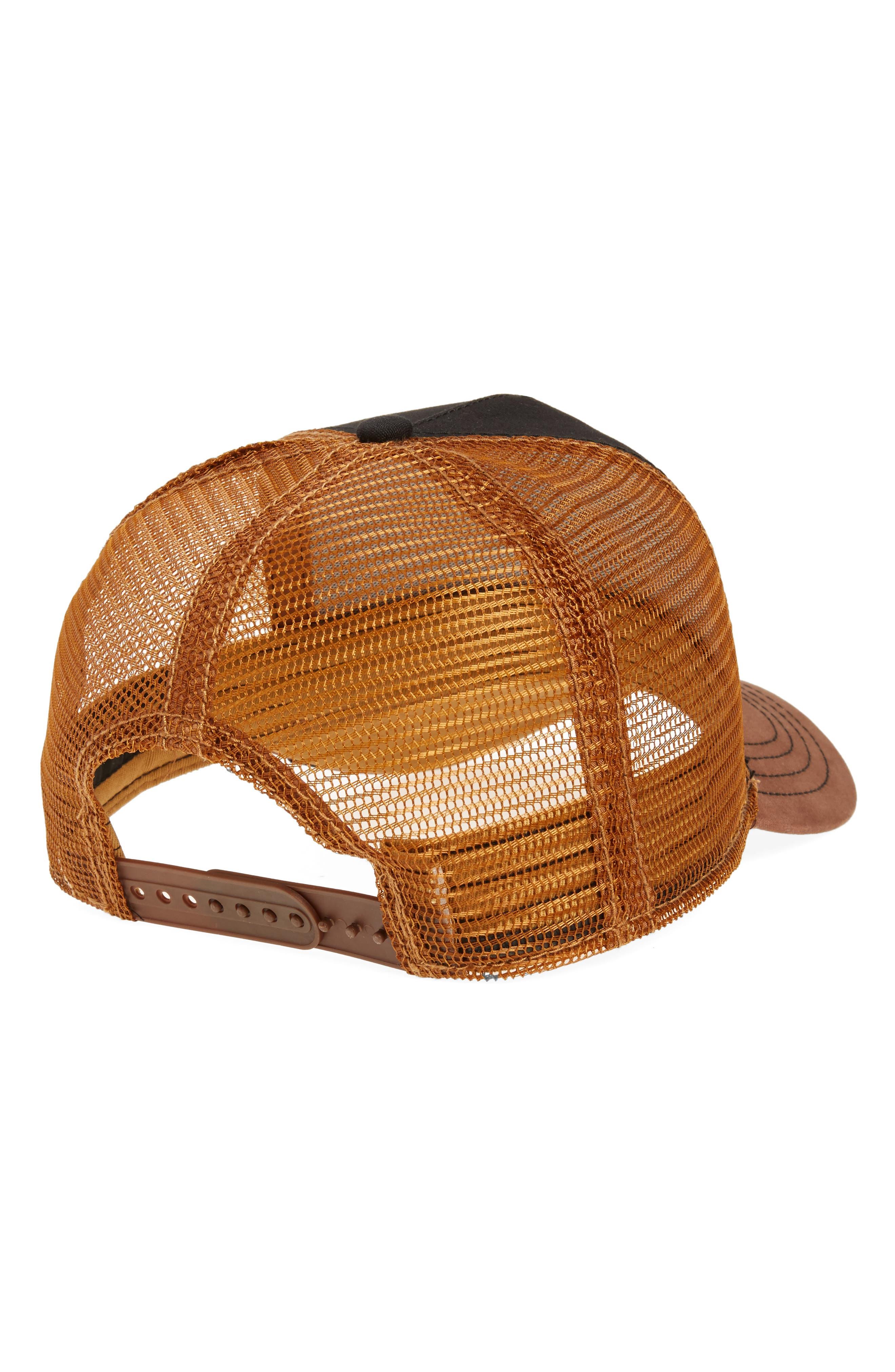 Barnyard Donkey Trucker Hat,                             Alternate thumbnail 2, color,                             BLACK