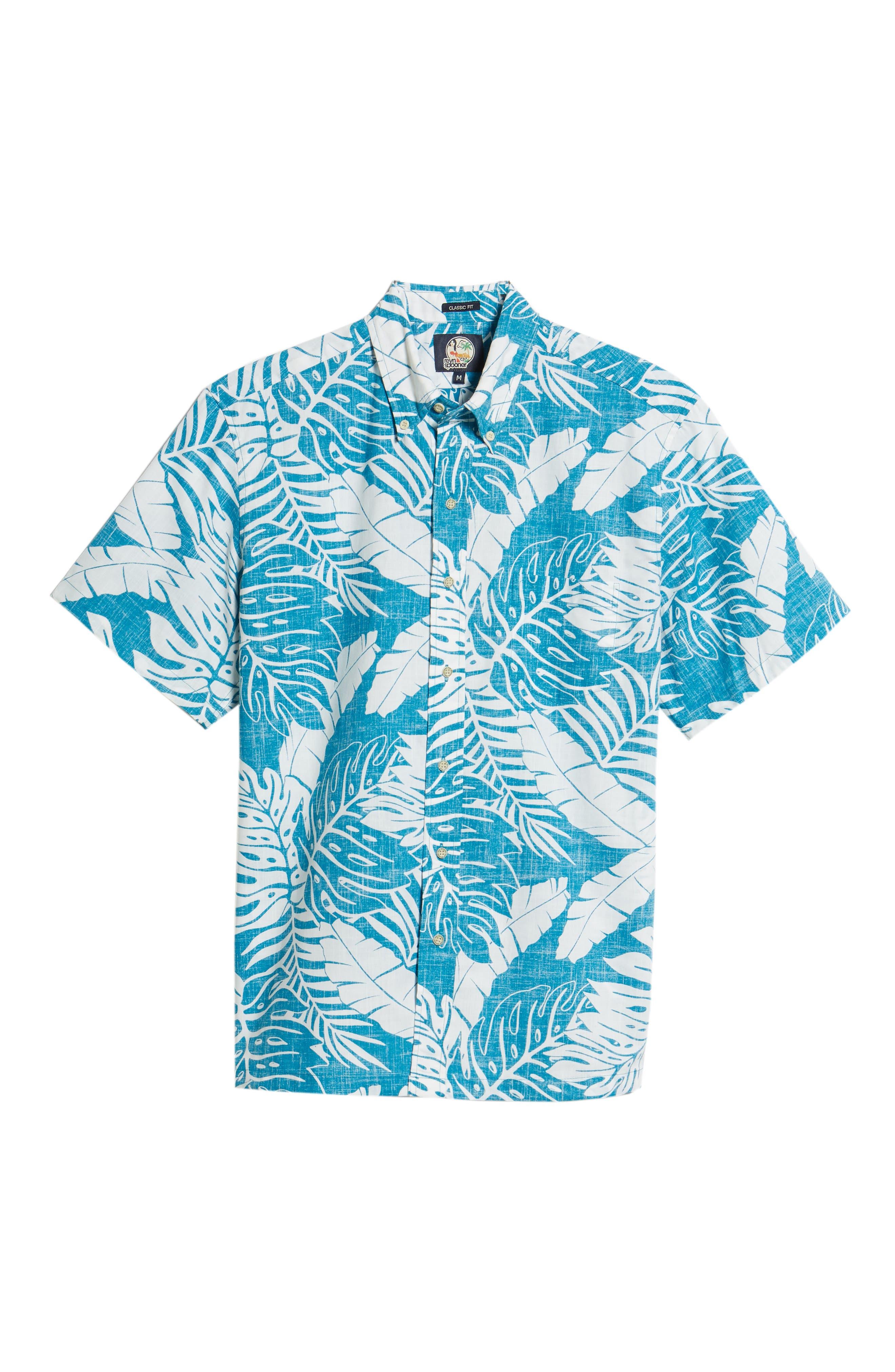 Avenue Falls Classic Fit Sport Shirt,                             Alternate thumbnail 6, color,                             BLUE