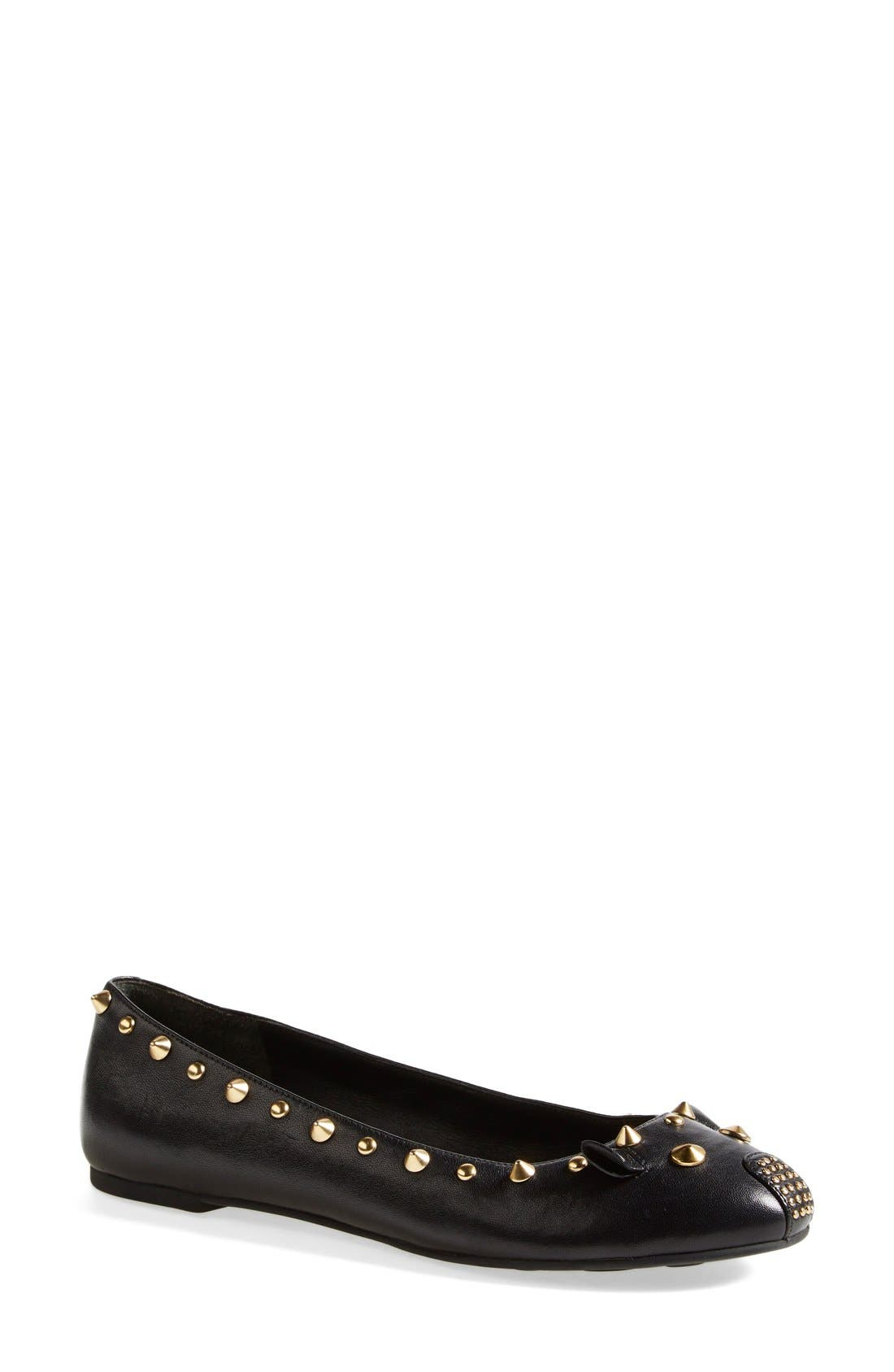 MARC BY MARC JACOBS 'Punk Mouse' Ballerina Flat,                         Main,                         color, 001