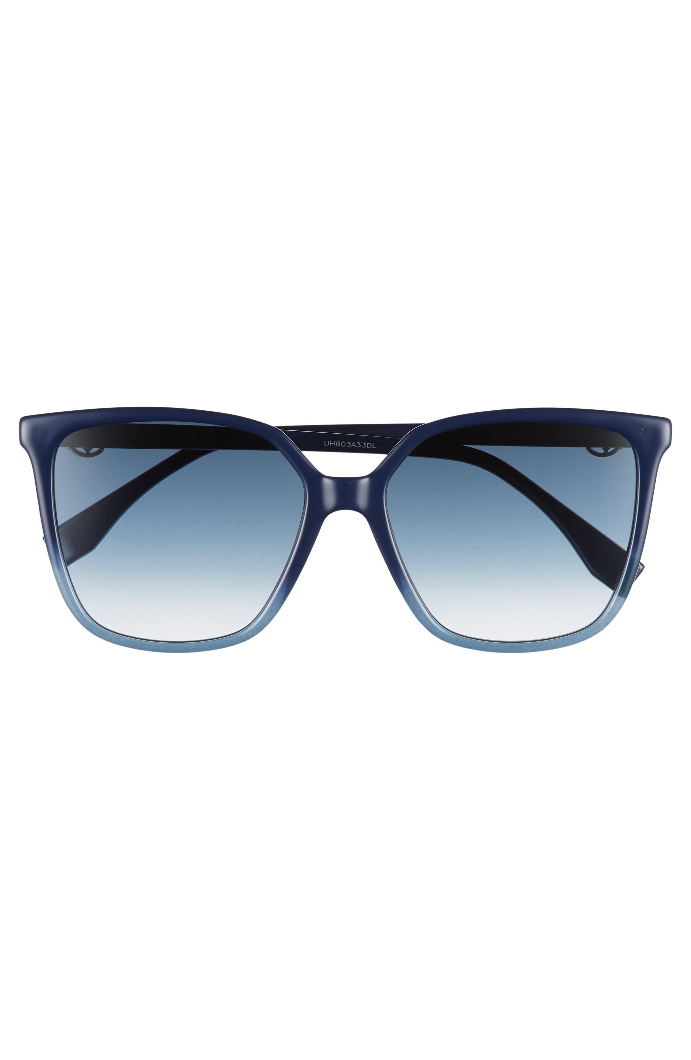 57mm Sunglasses,                             Alternate thumbnail 3, color,                             BLUE