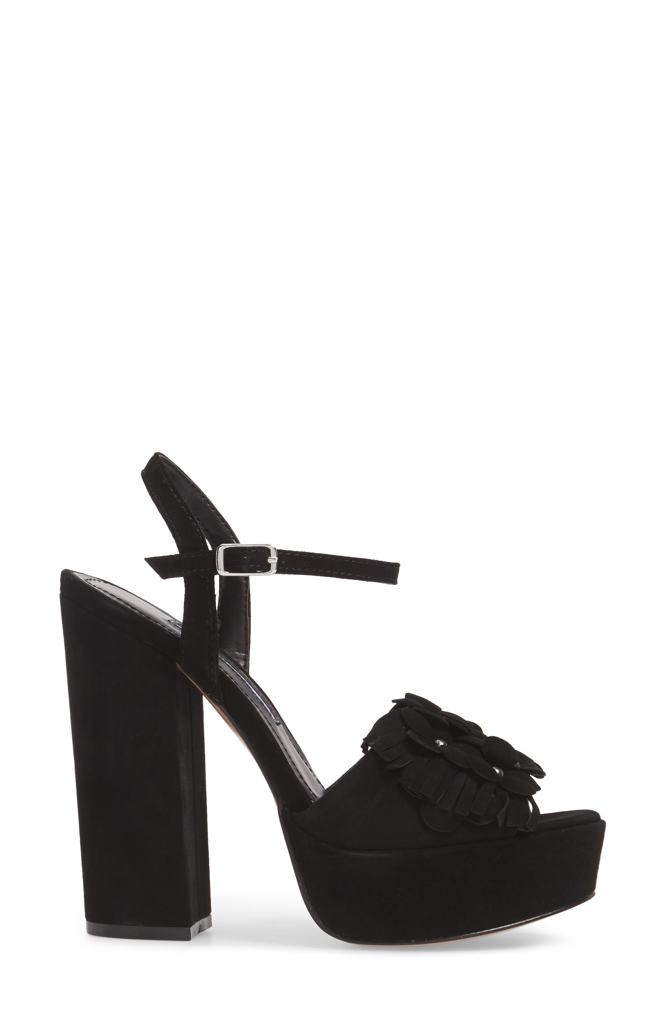 Royale Sandal,                             Alternate thumbnail 3, color,                             BLACK SUEDE