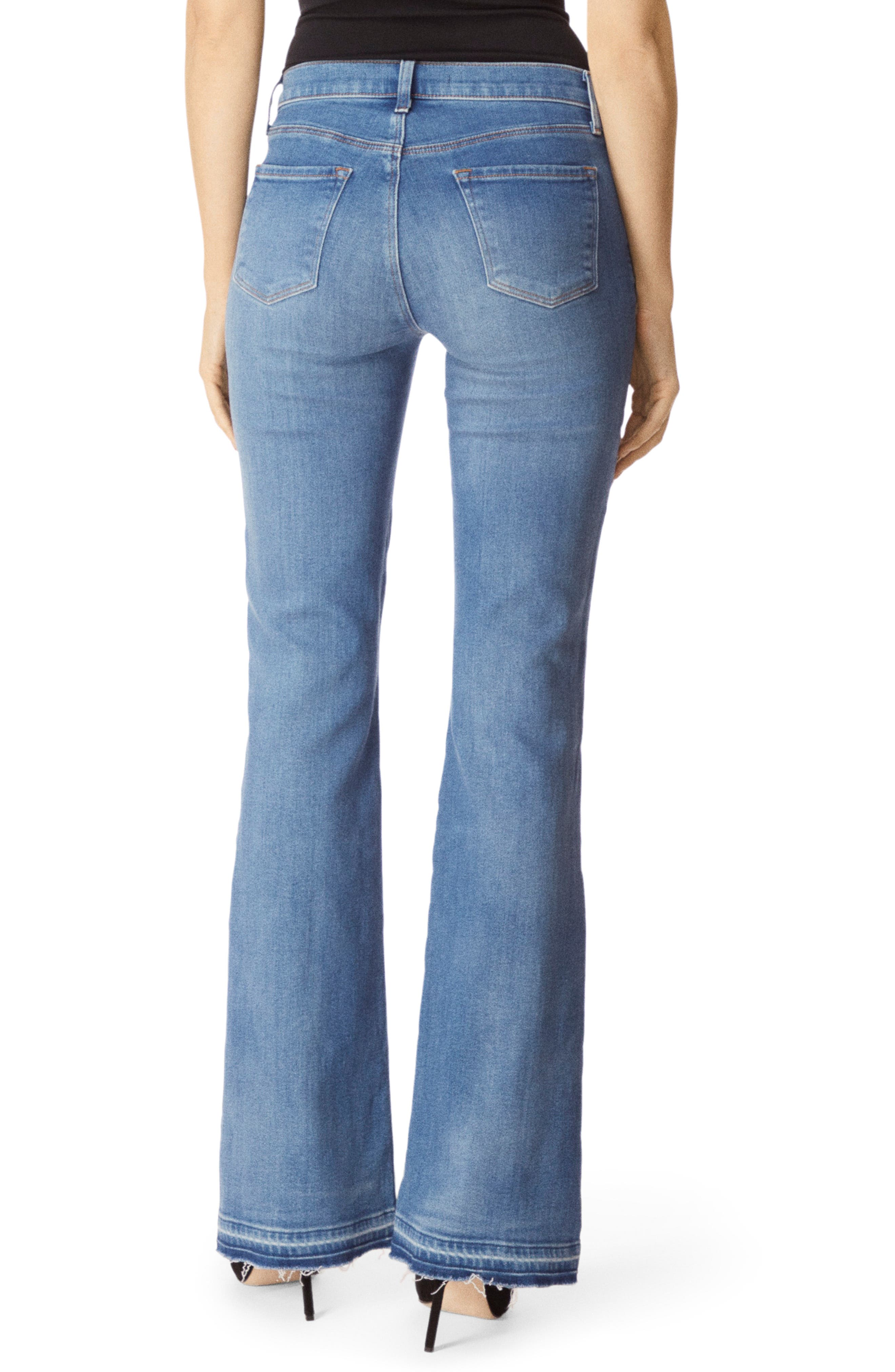 Sallie Release Hem Bootcut Jeans,                             Alternate thumbnail 2, color,                             RADIATE