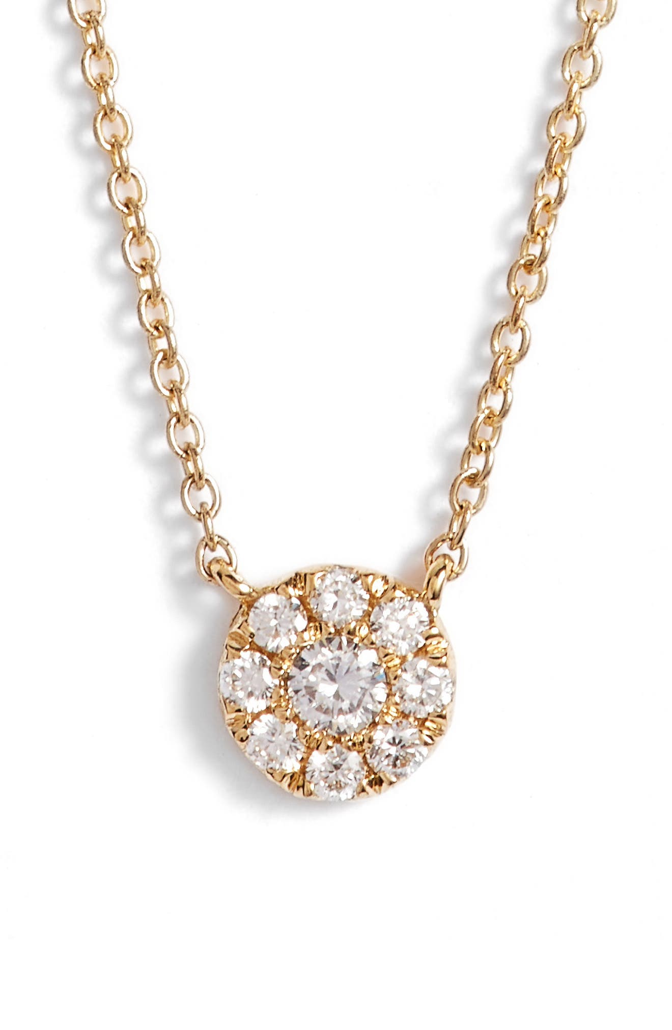 Ella Diamond Pendant Necklace,                         Main,                         color,