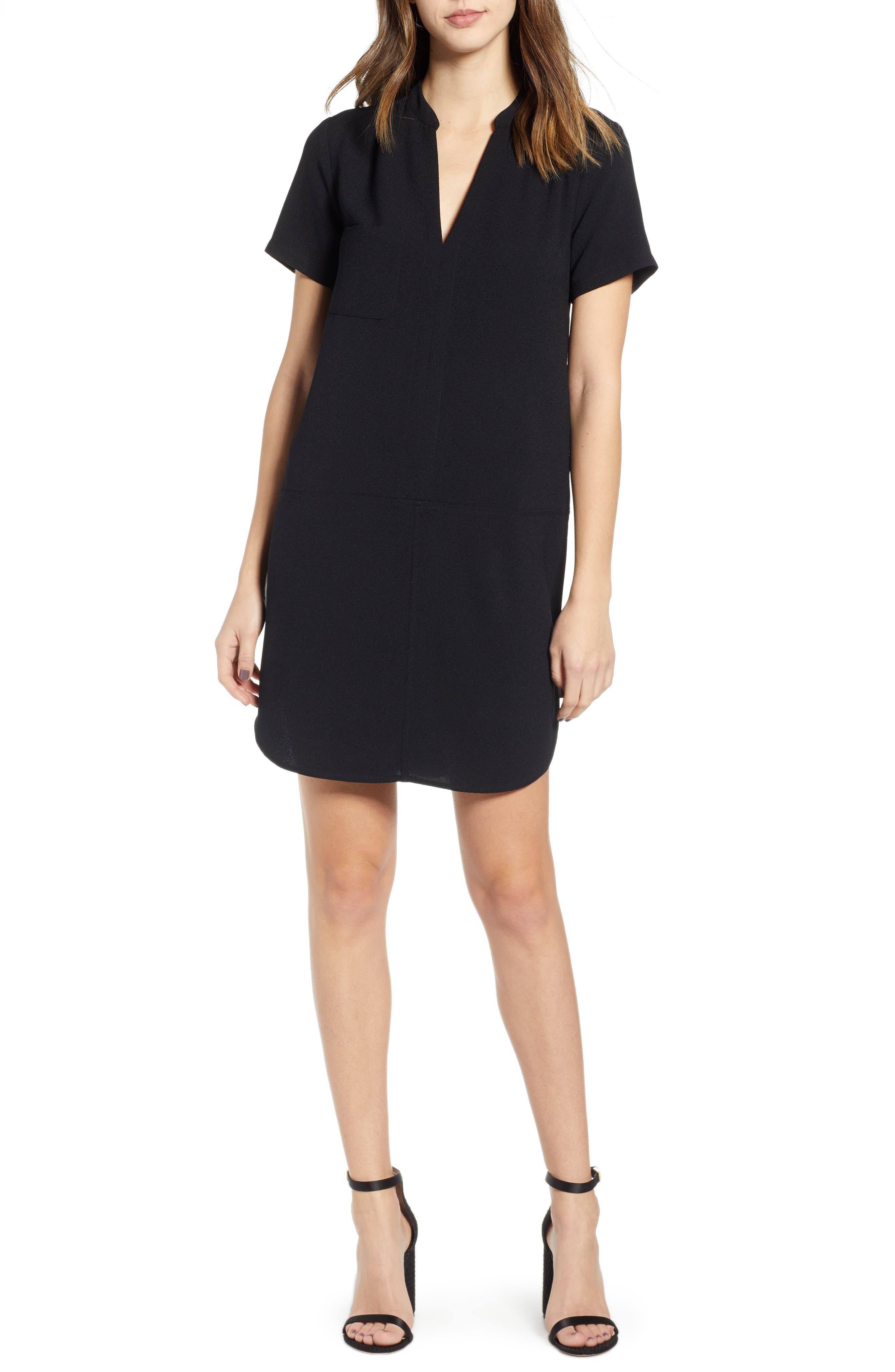 Hailey Crepe Dress,                             Main thumbnail 1, color,                             005