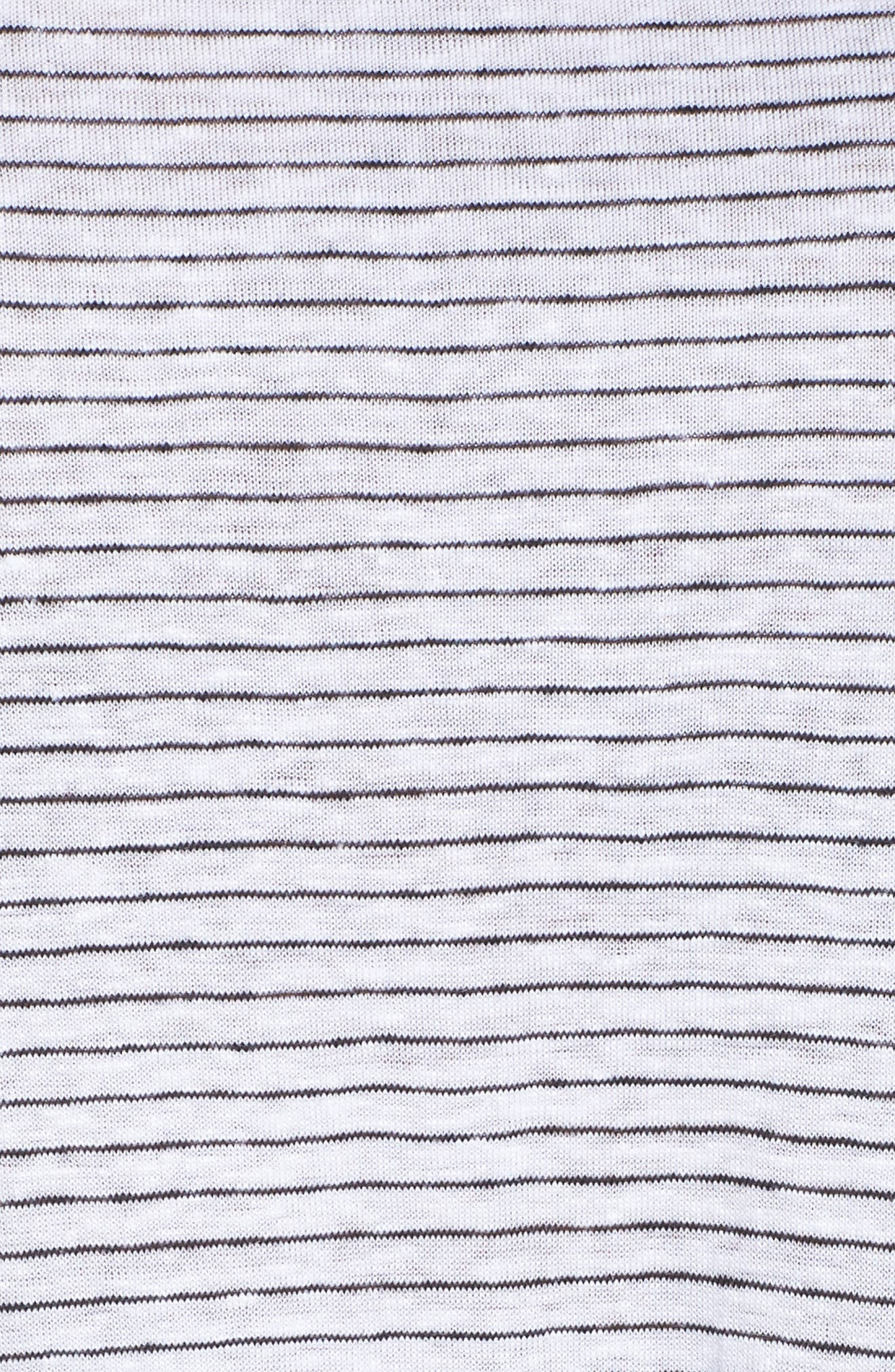 Organic Linen Shift Dress,                             Alternate thumbnail 5, color,                             120