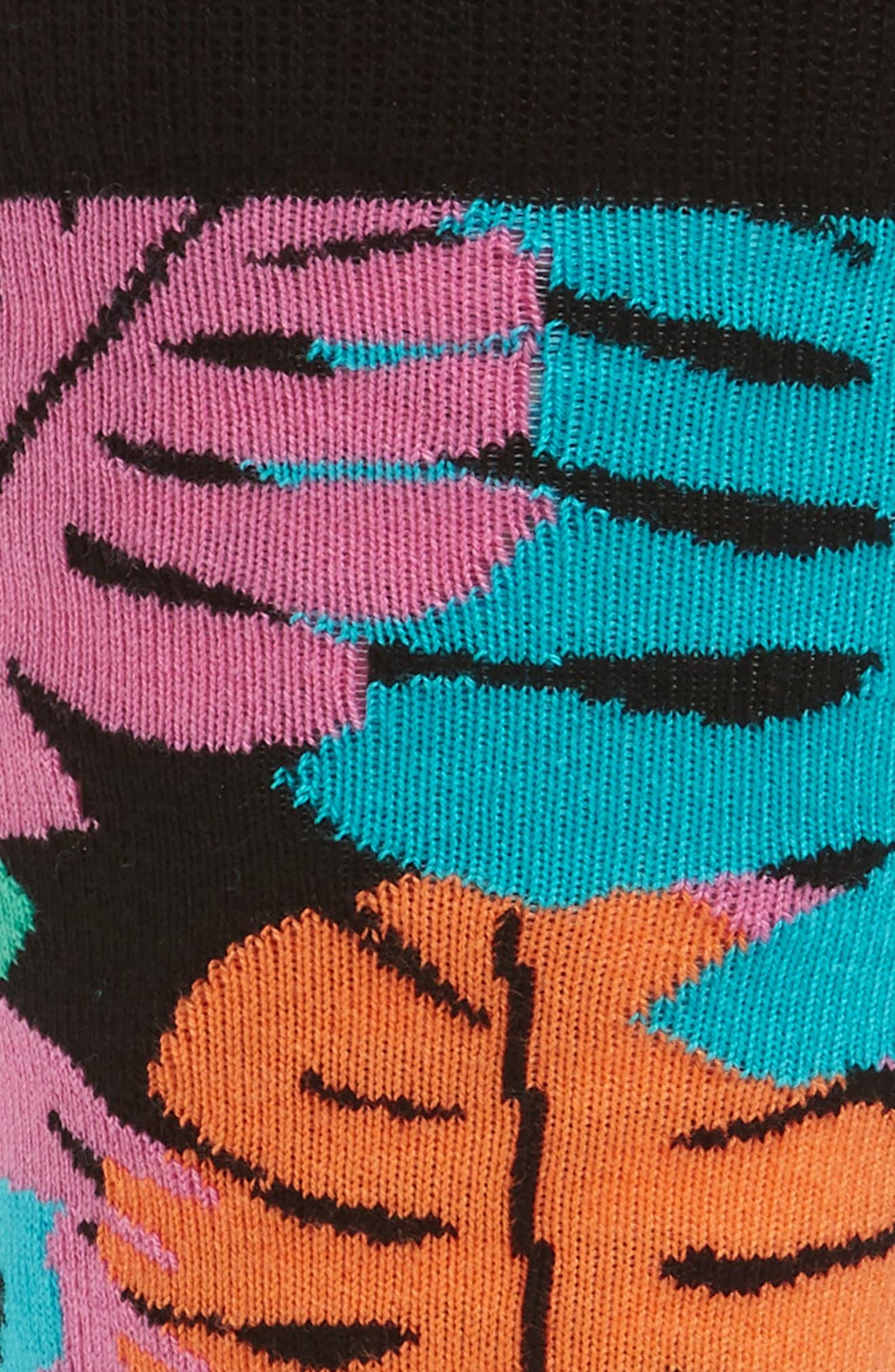 Jungle Socks,                             Alternate thumbnail 2, color,                             BLACK MULTI