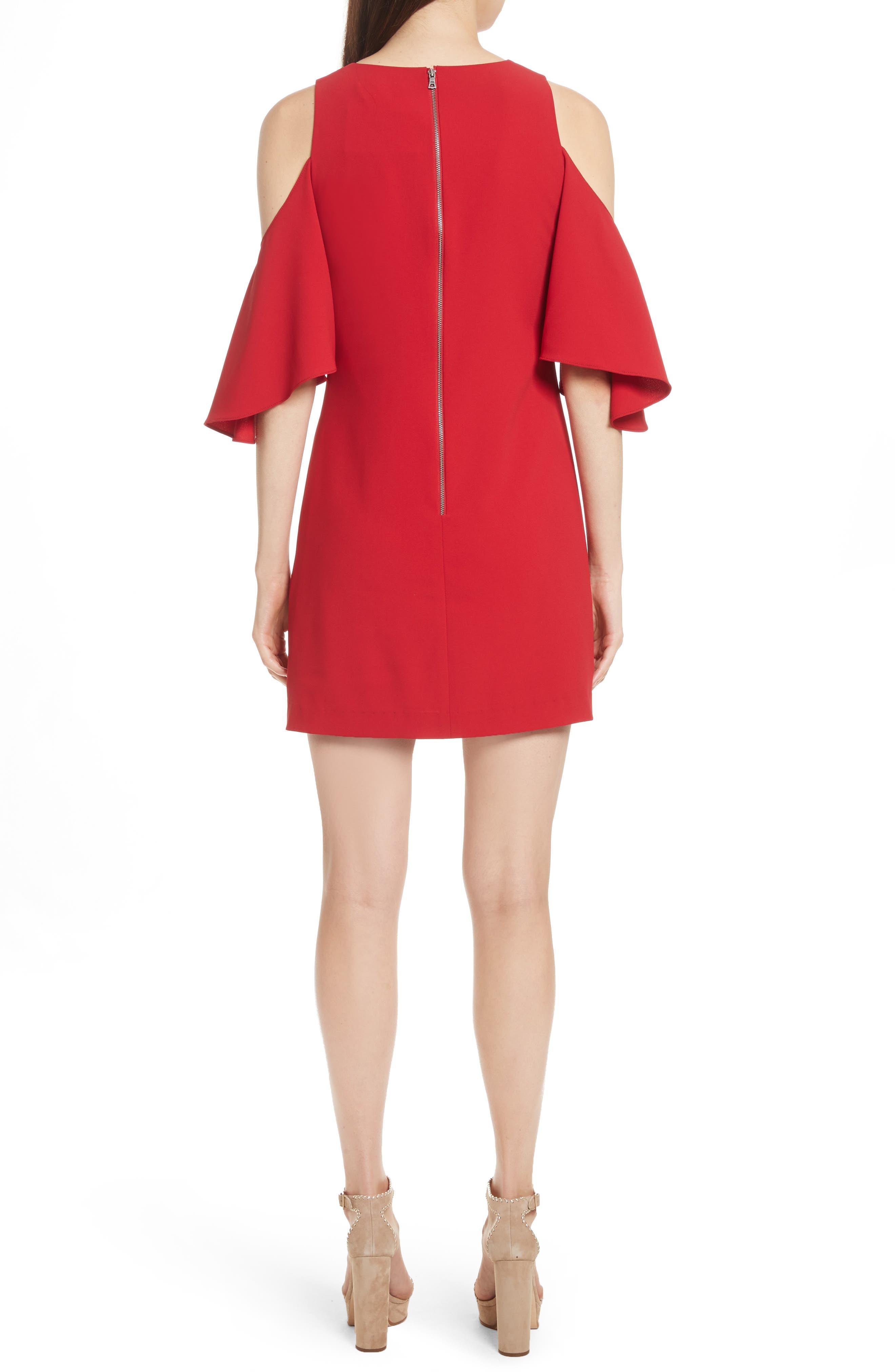 Coley Cold Shoulder A-Line Dress,                             Alternate thumbnail 2, color,                             623