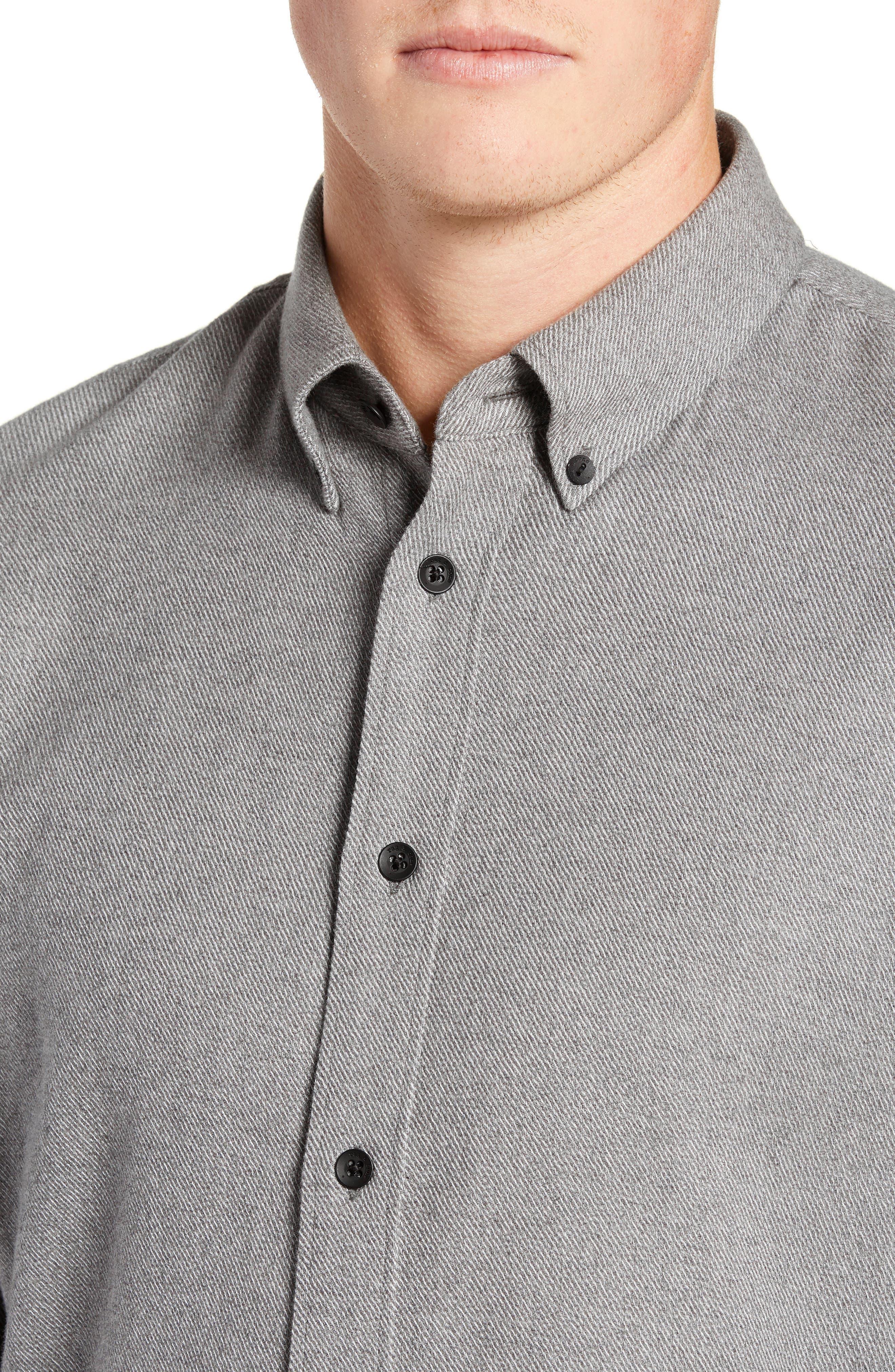 Fit 2 Tomlin Twill Sport Shirt,                             Alternate thumbnail 2, color,                             GREY