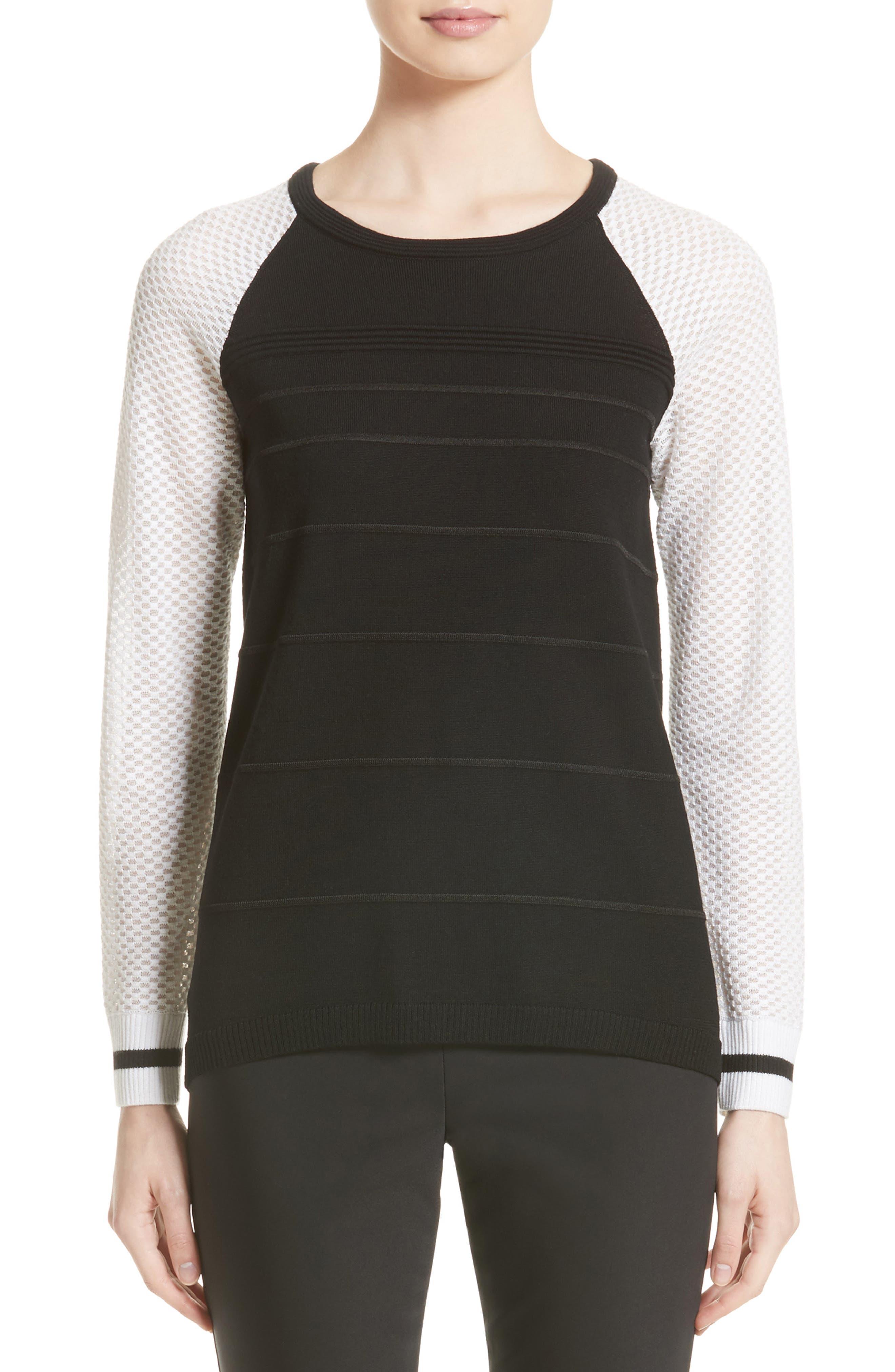 Ottoman Stitch Sweater,                         Main,                         color, 001