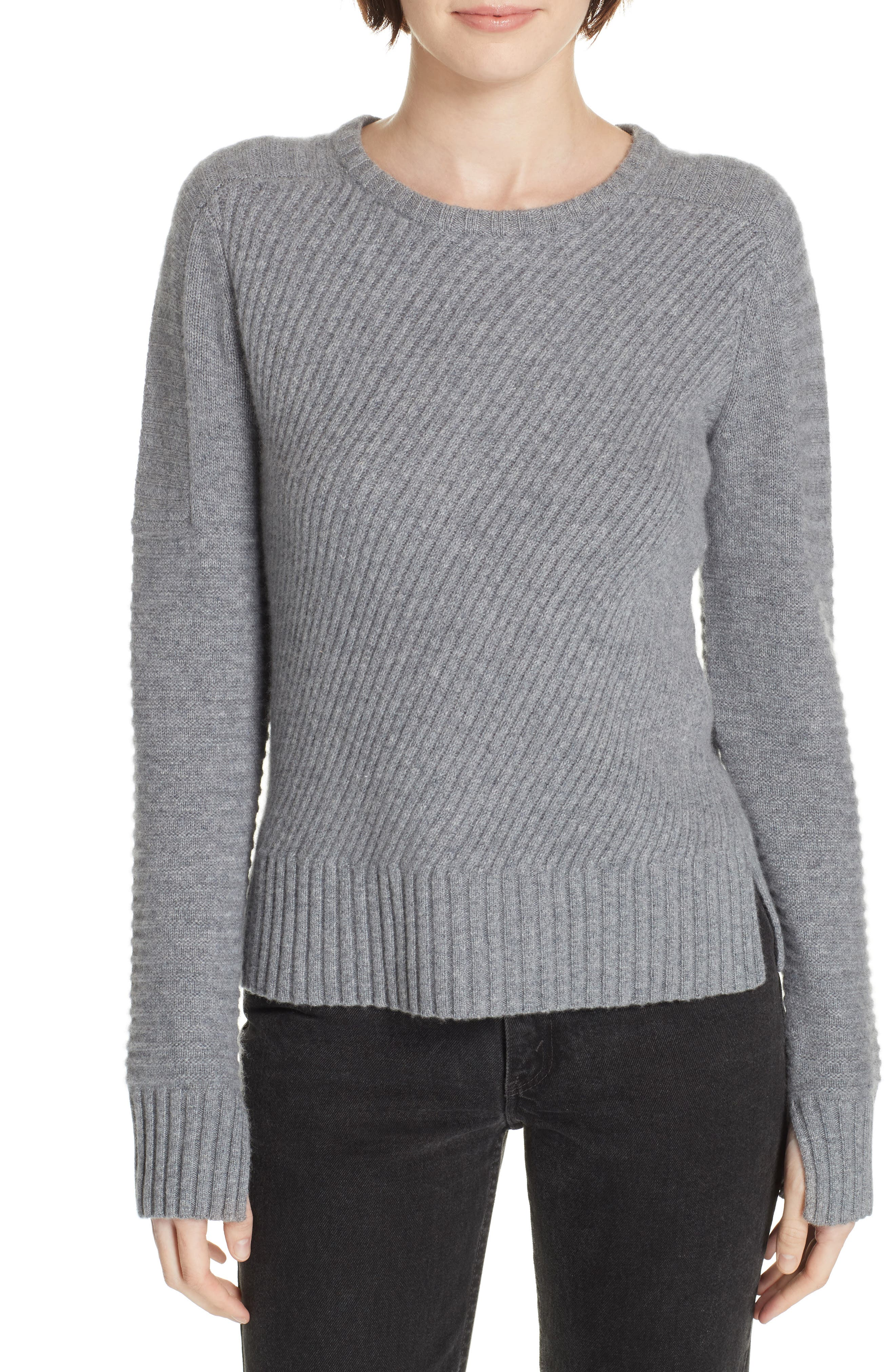 Equipment Abril Wool & Cashmere Sweater, Grey