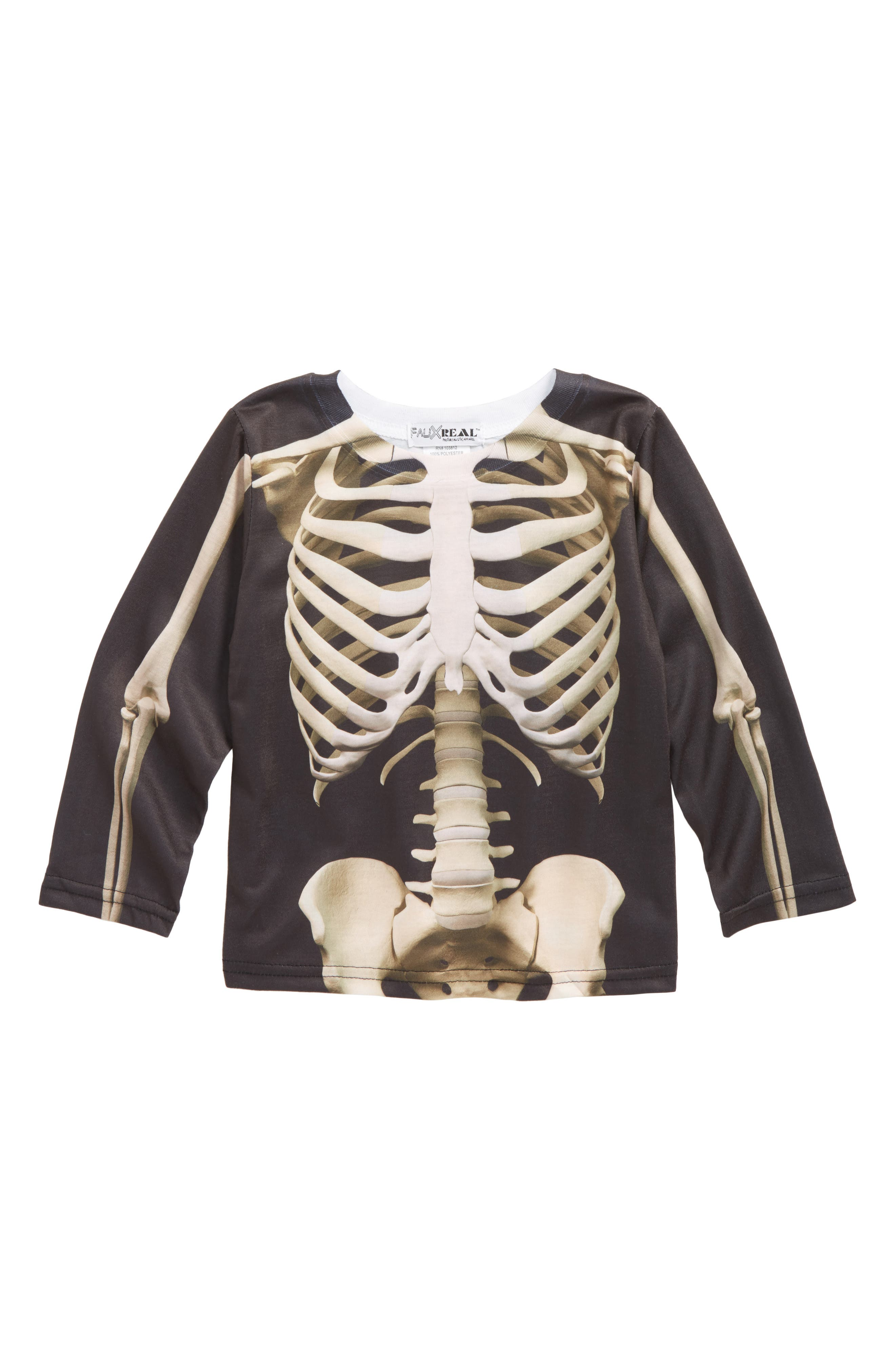 Skeleton Screenprint T-Shirt,                         Main,                         color, 001
