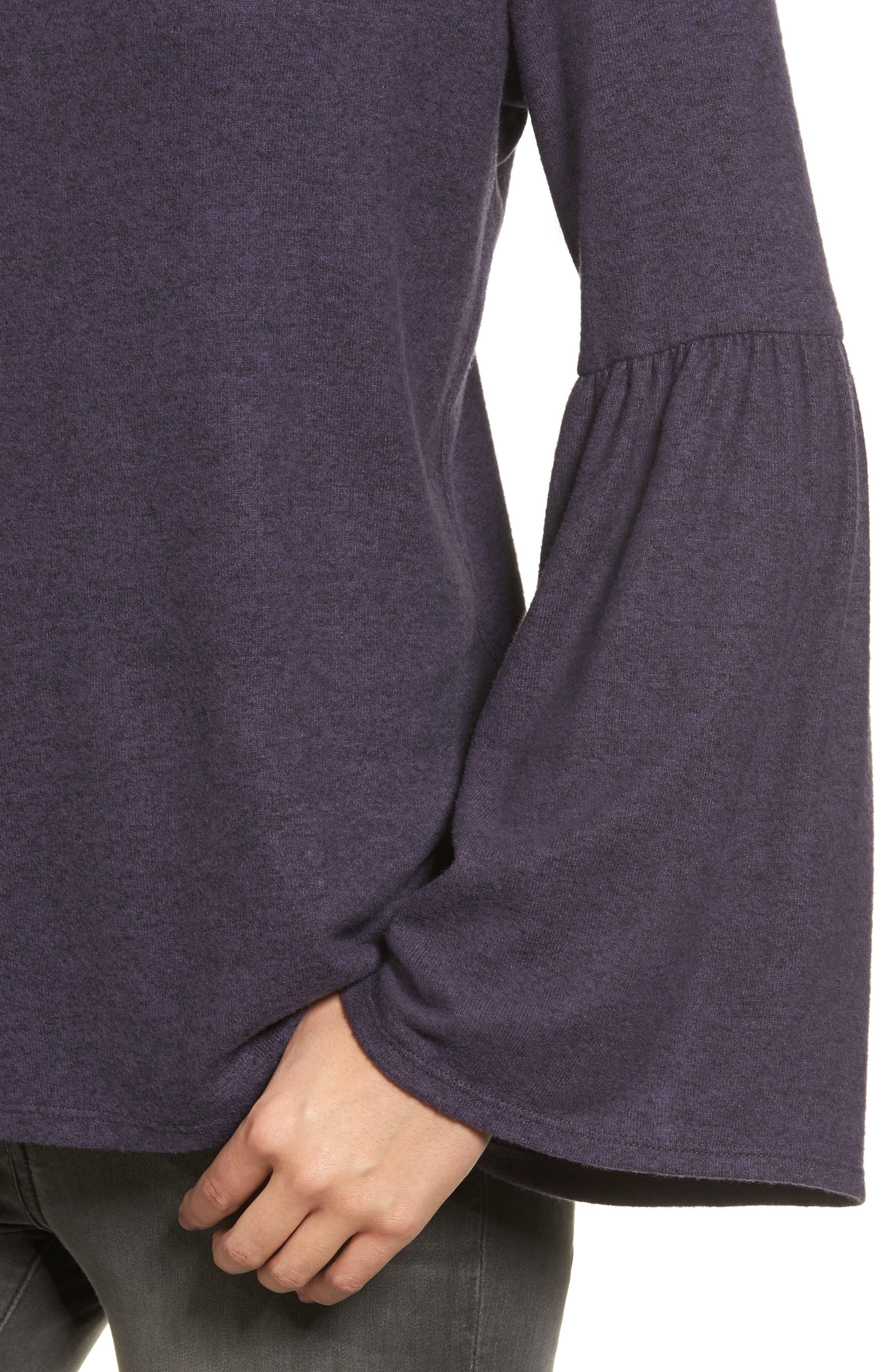 Bell Sleeve Cozy Fleece Pullover,                             Alternate thumbnail 46, color,