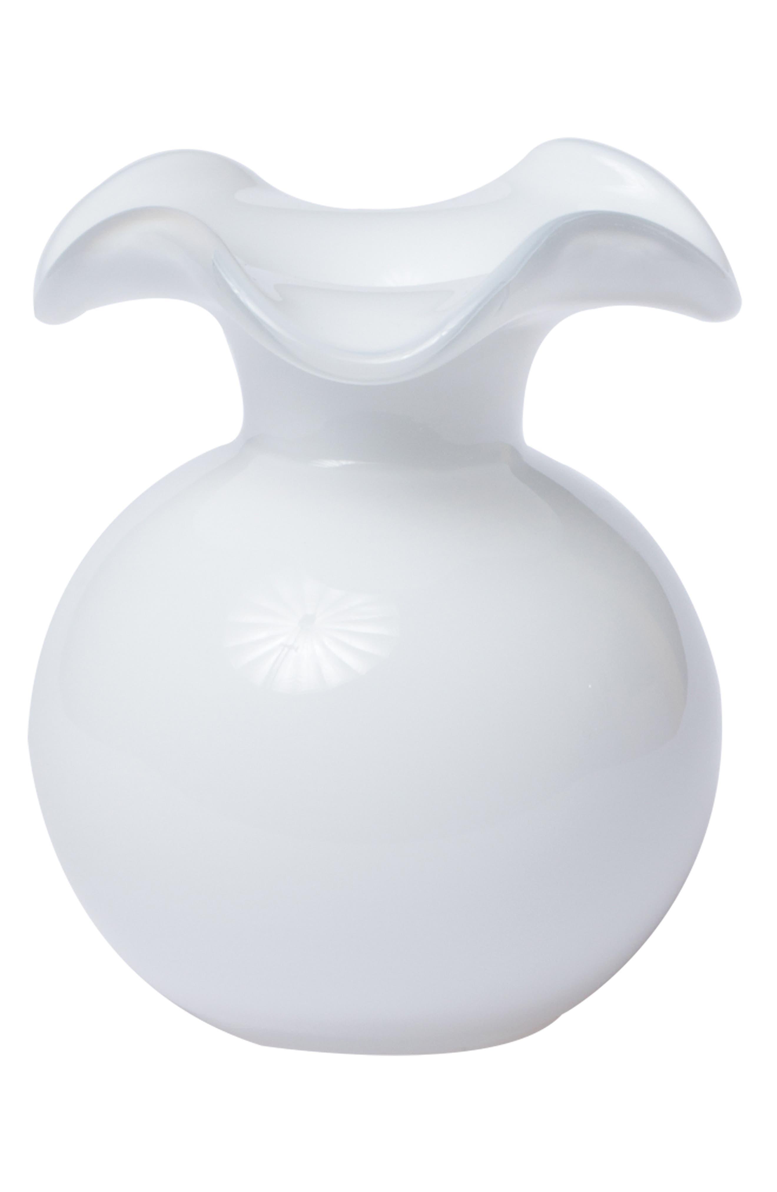 Hibiscus Bud Vase,                             Main thumbnail 1, color,                             WHITE