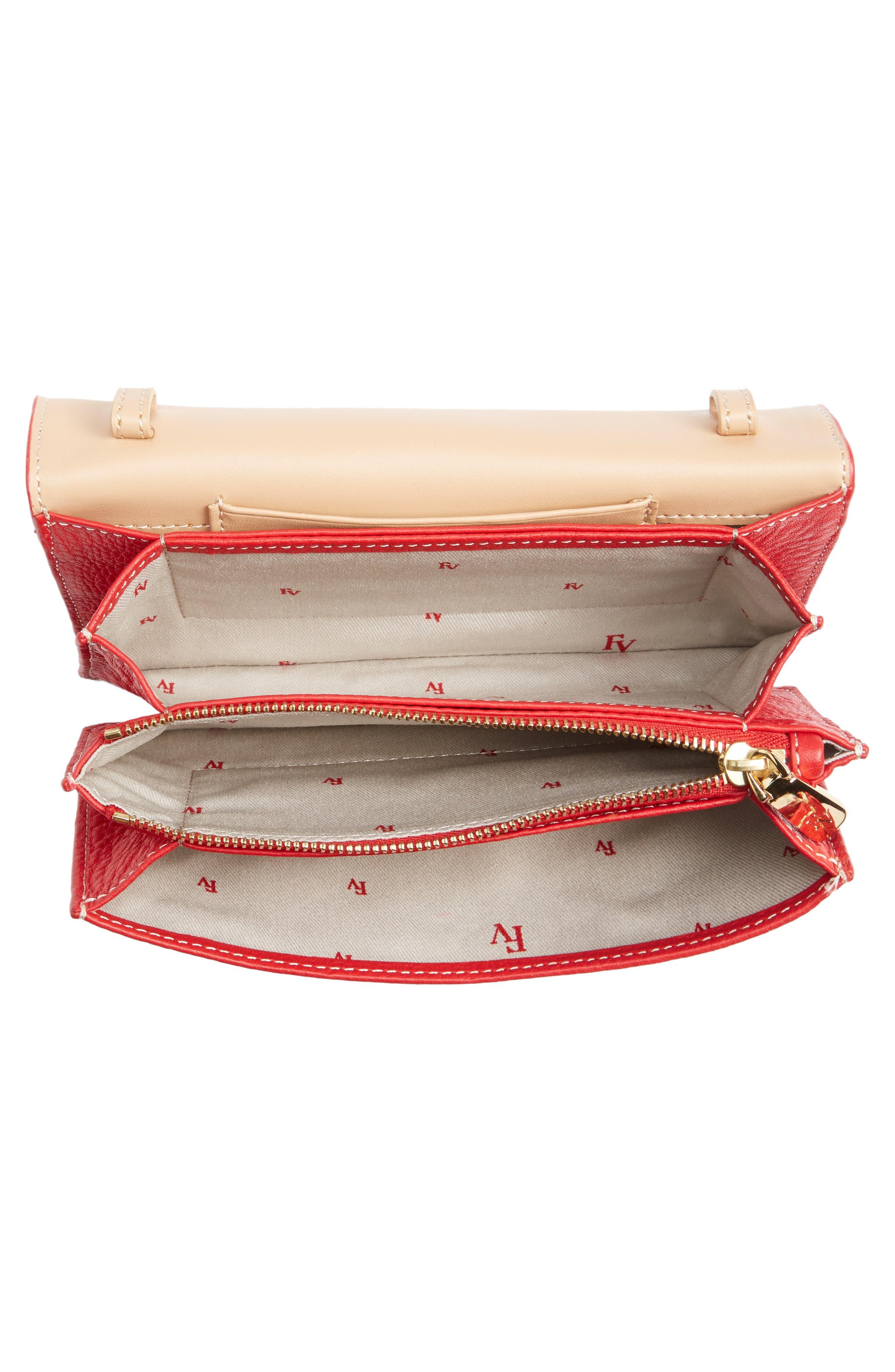 Calfskin Leather Crossbody Wallet,                             Alternate thumbnail 16, color,