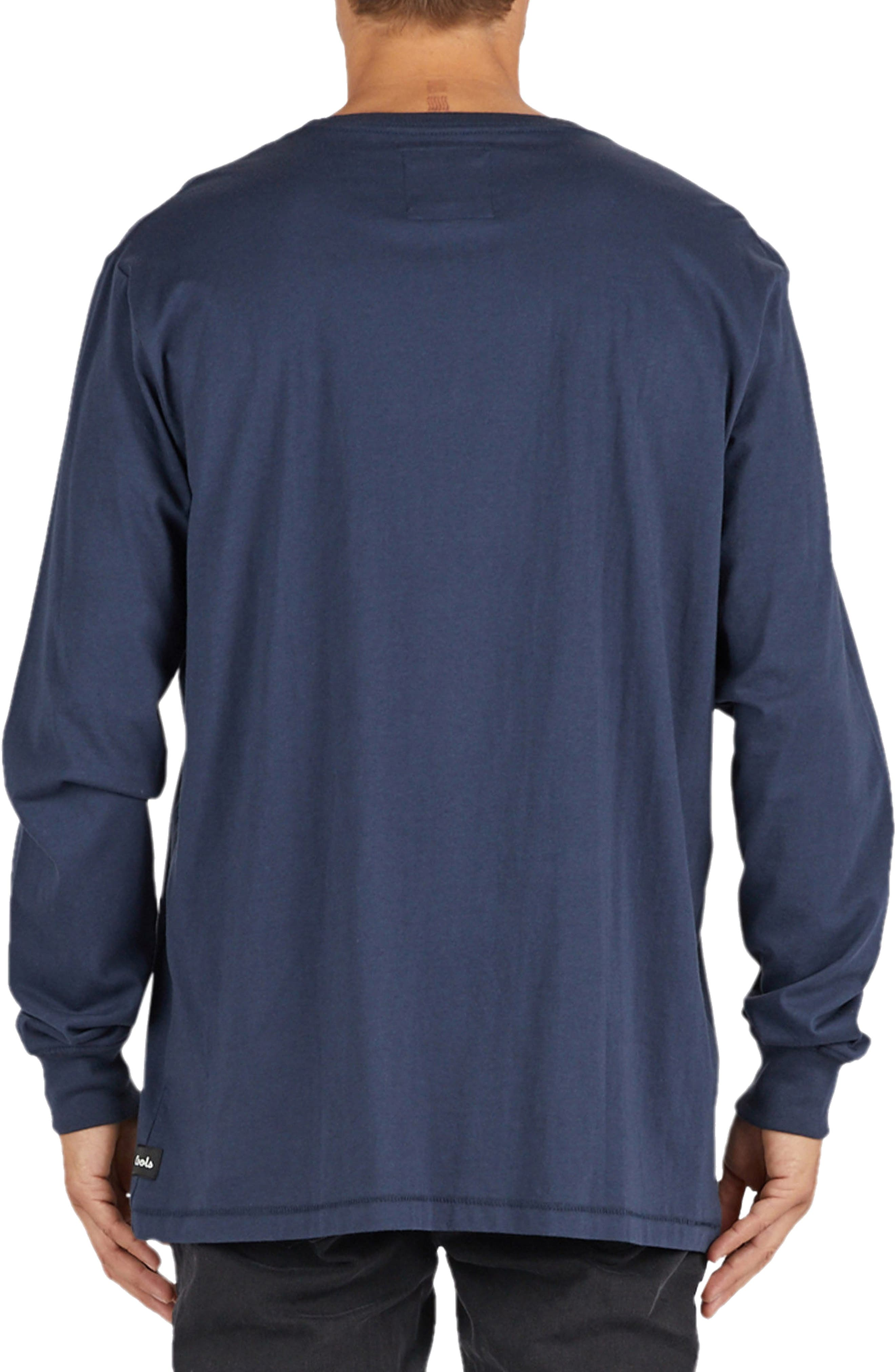 Relax Embroidered Long Sleeve T-Shirt,                             Alternate thumbnail 2, color,                             415