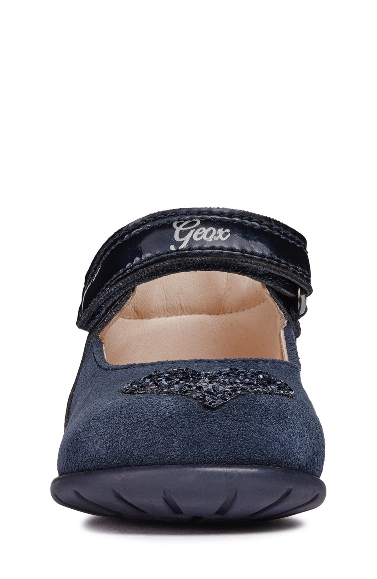 Kaytan Glitter Mary Jane Flat,                             Alternate thumbnail 4, color,                             NAVY