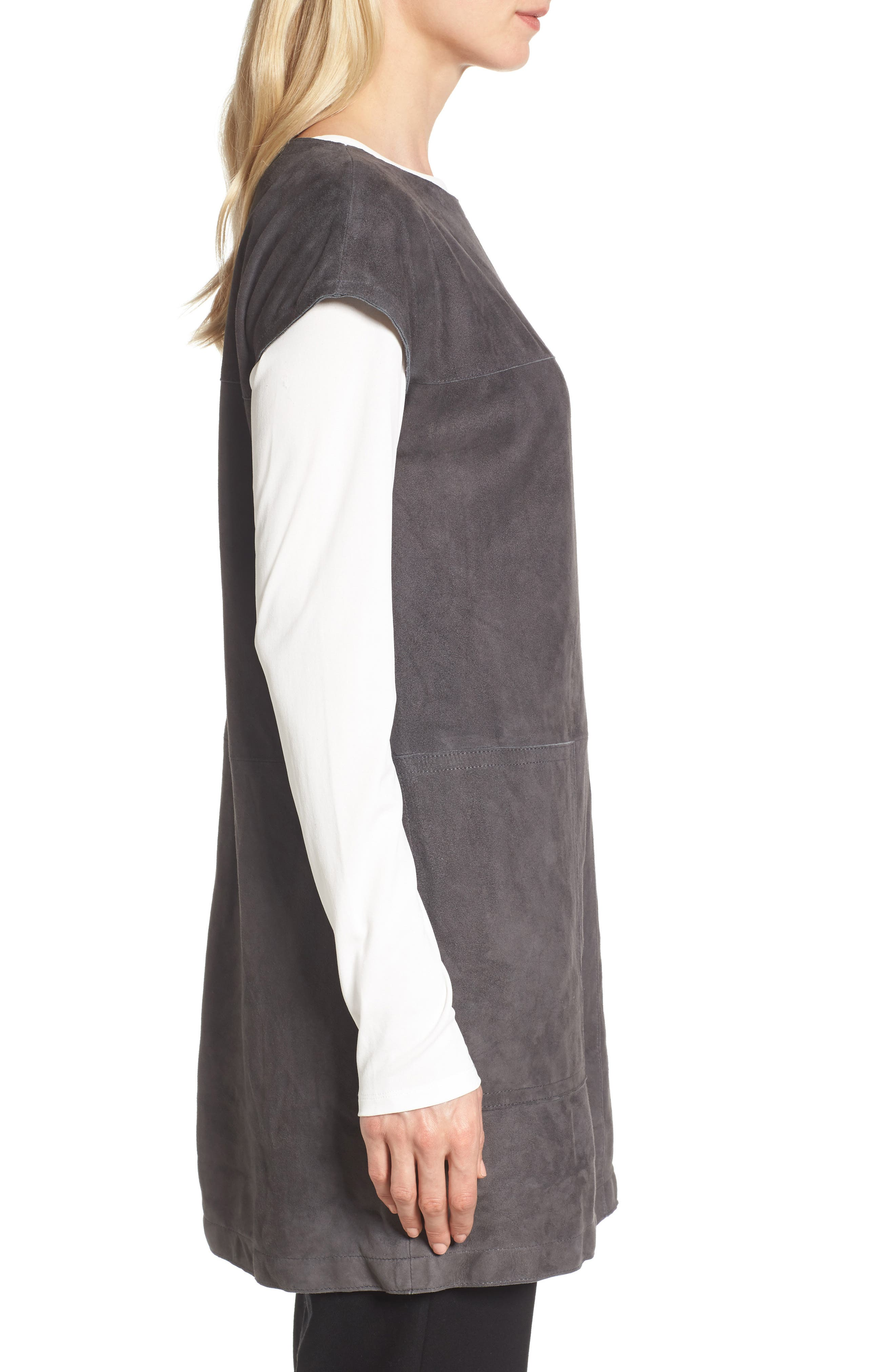 Suede Tunic,                             Alternate thumbnail 3, color,                             210
