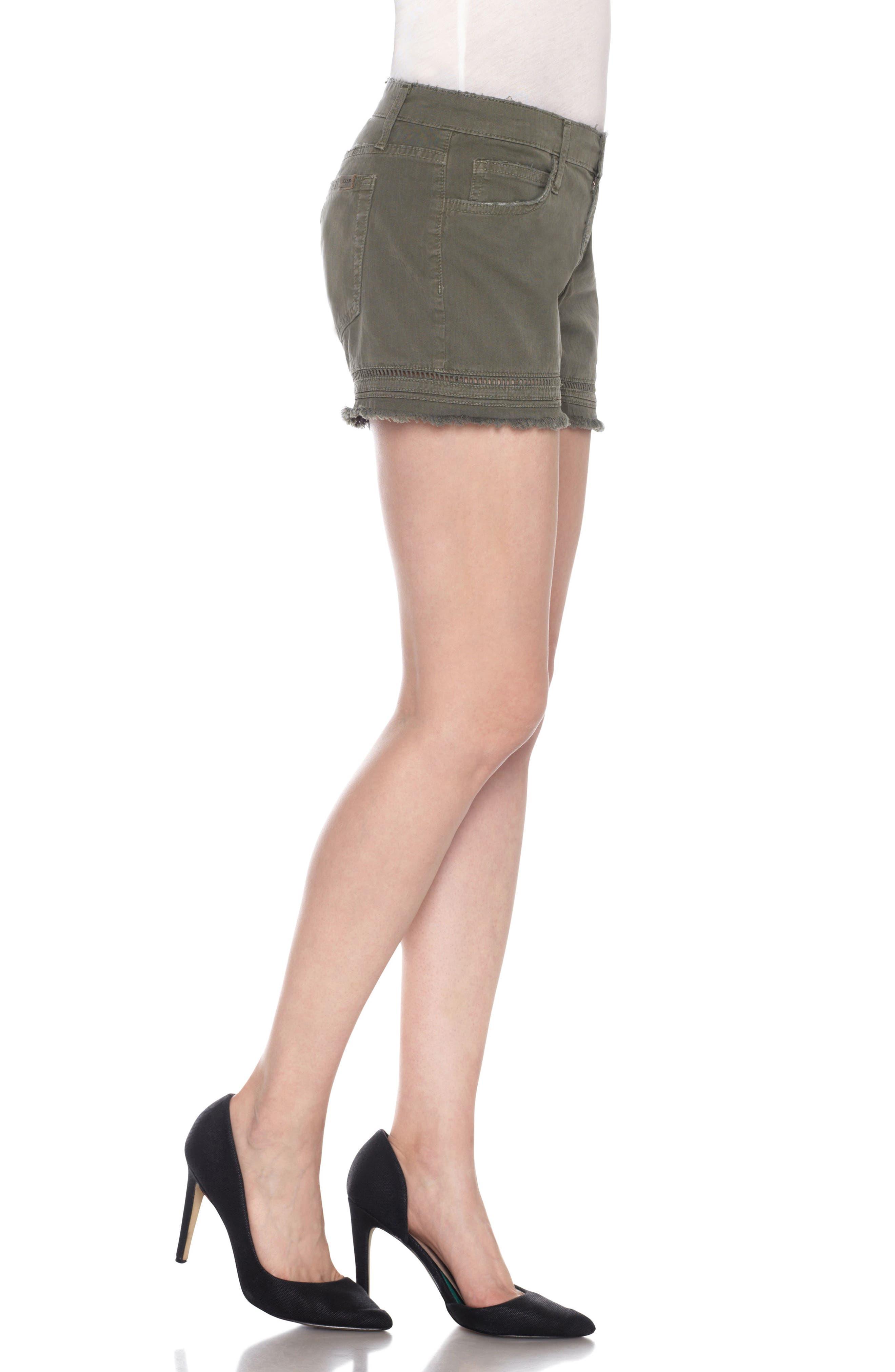 Ozzie Cutoff Denim Shorts,                             Alternate thumbnail 3, color,                             300