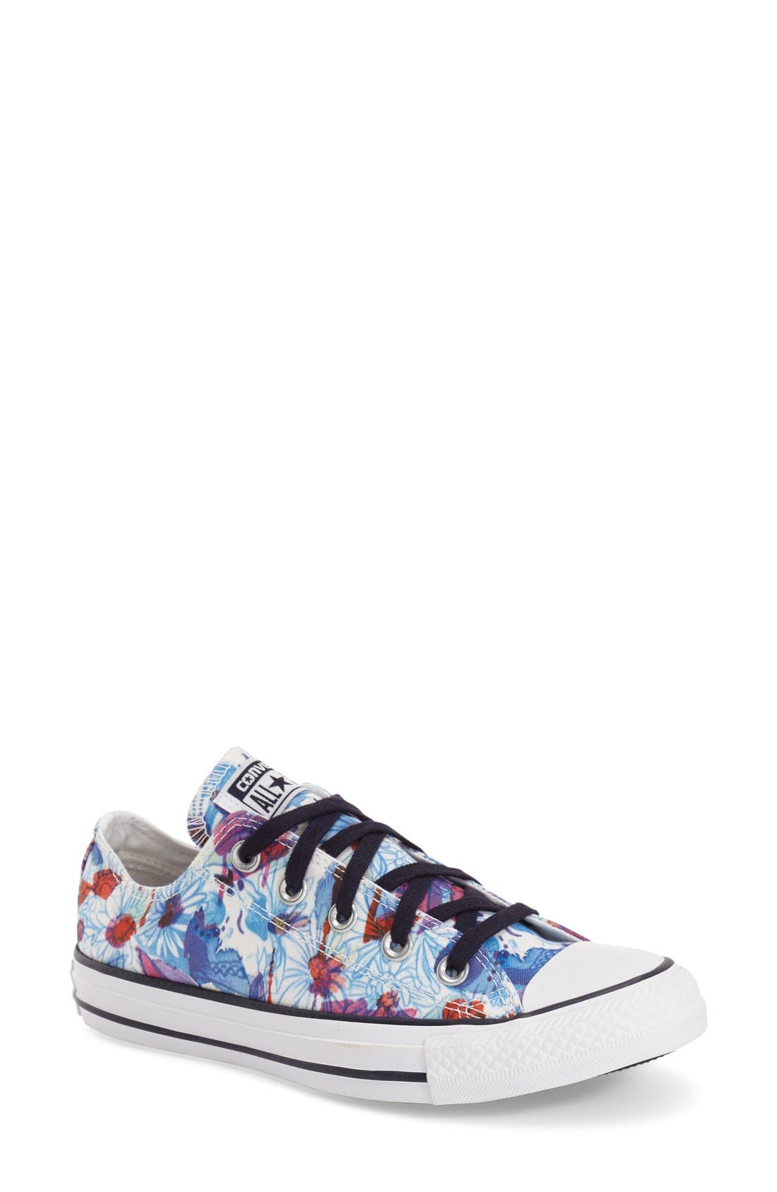 Chuck Taylor<sup>®</sup> All Star<sup>®</sup> 'Daisy Print Ox' Low Top Sneaker,                             Main thumbnail 1, color,                             400