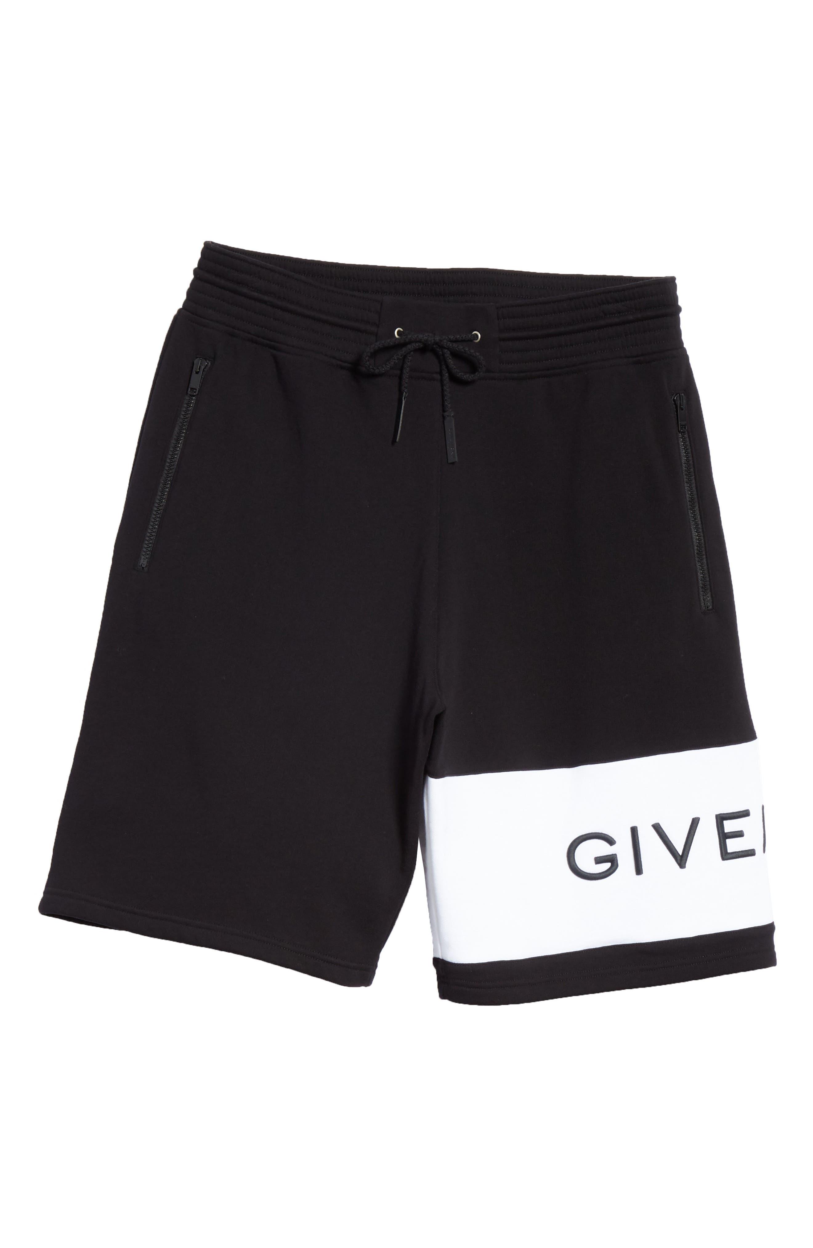 Knit Bermuda Shorts,                             Alternate thumbnail 6, color,                             BLACK